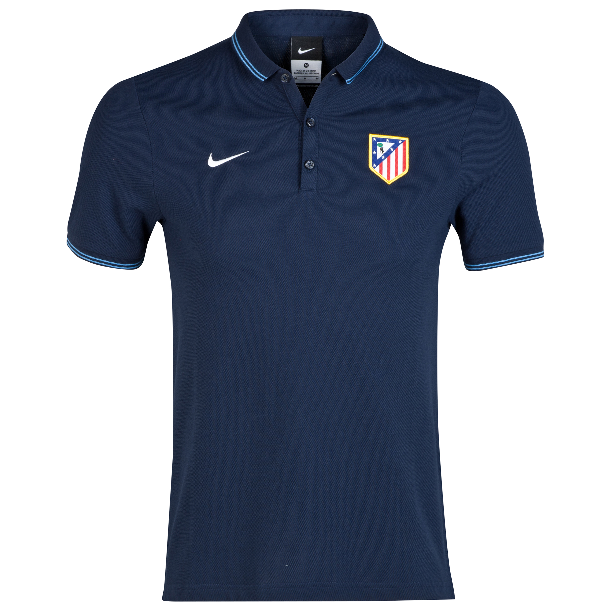 Atletico Madrid League Authentic Polo Navy