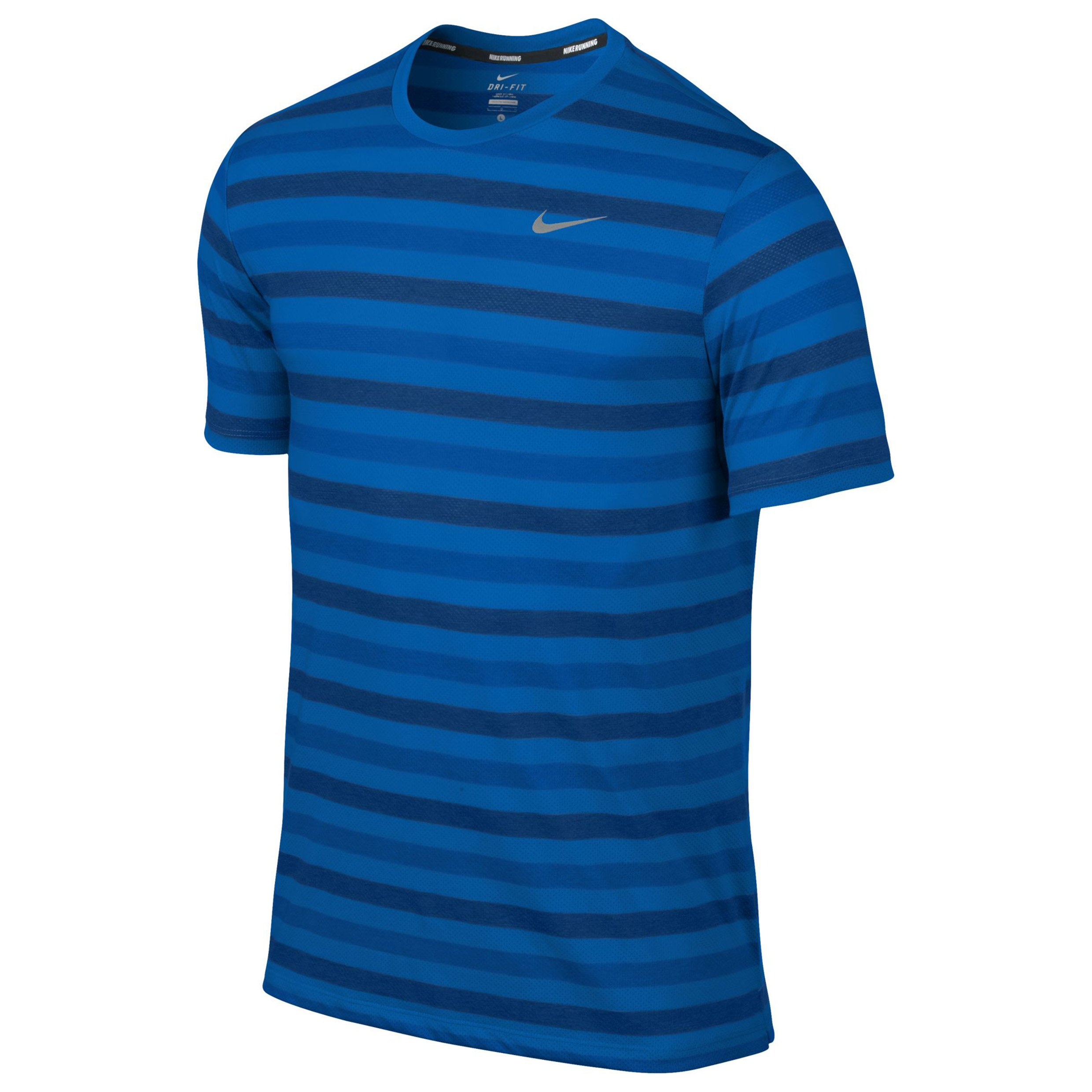 Nike DriFit Touch Tailwind Striped T-Shirt Blue