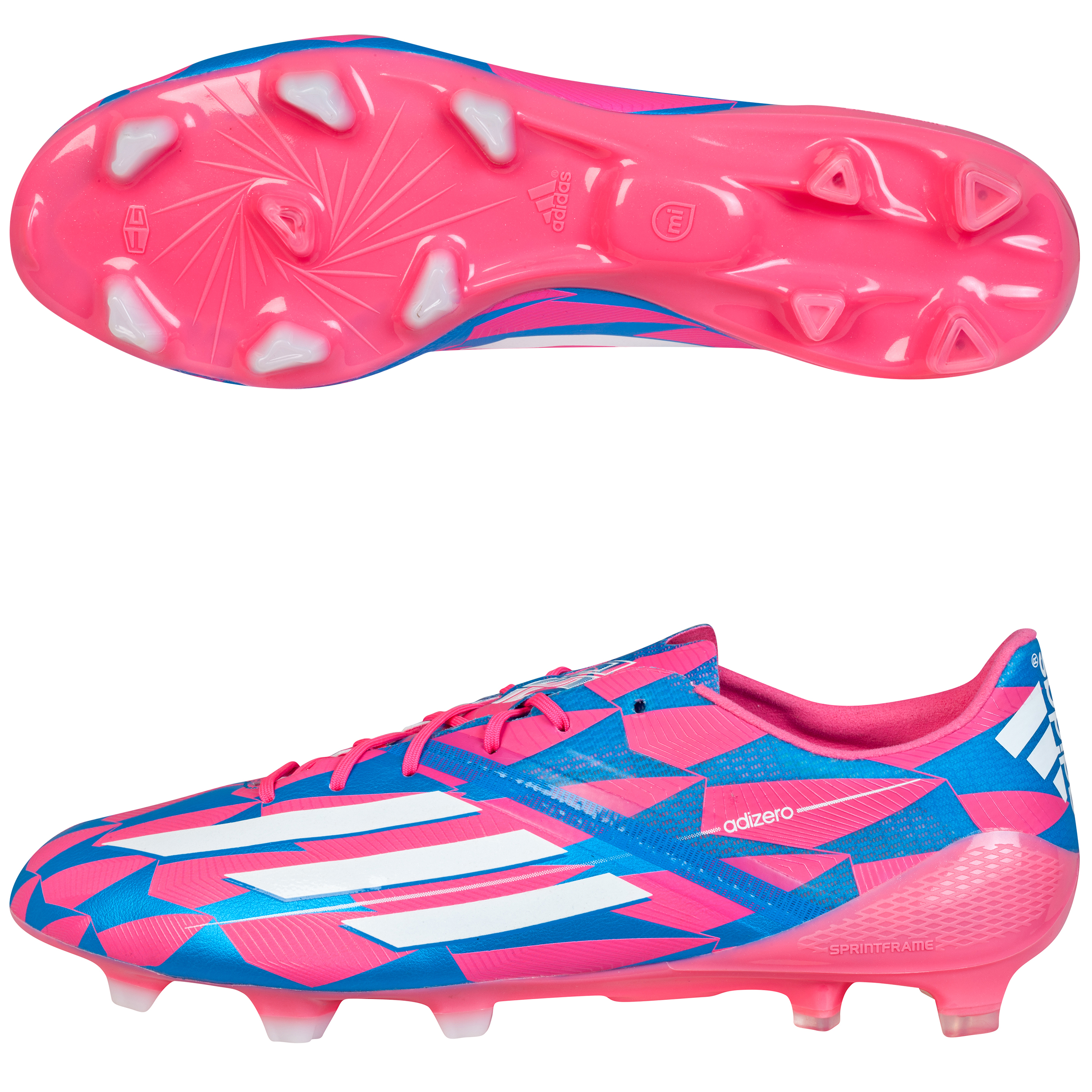 Adidas F50 adizero Firm Ground Football Boots Pink
