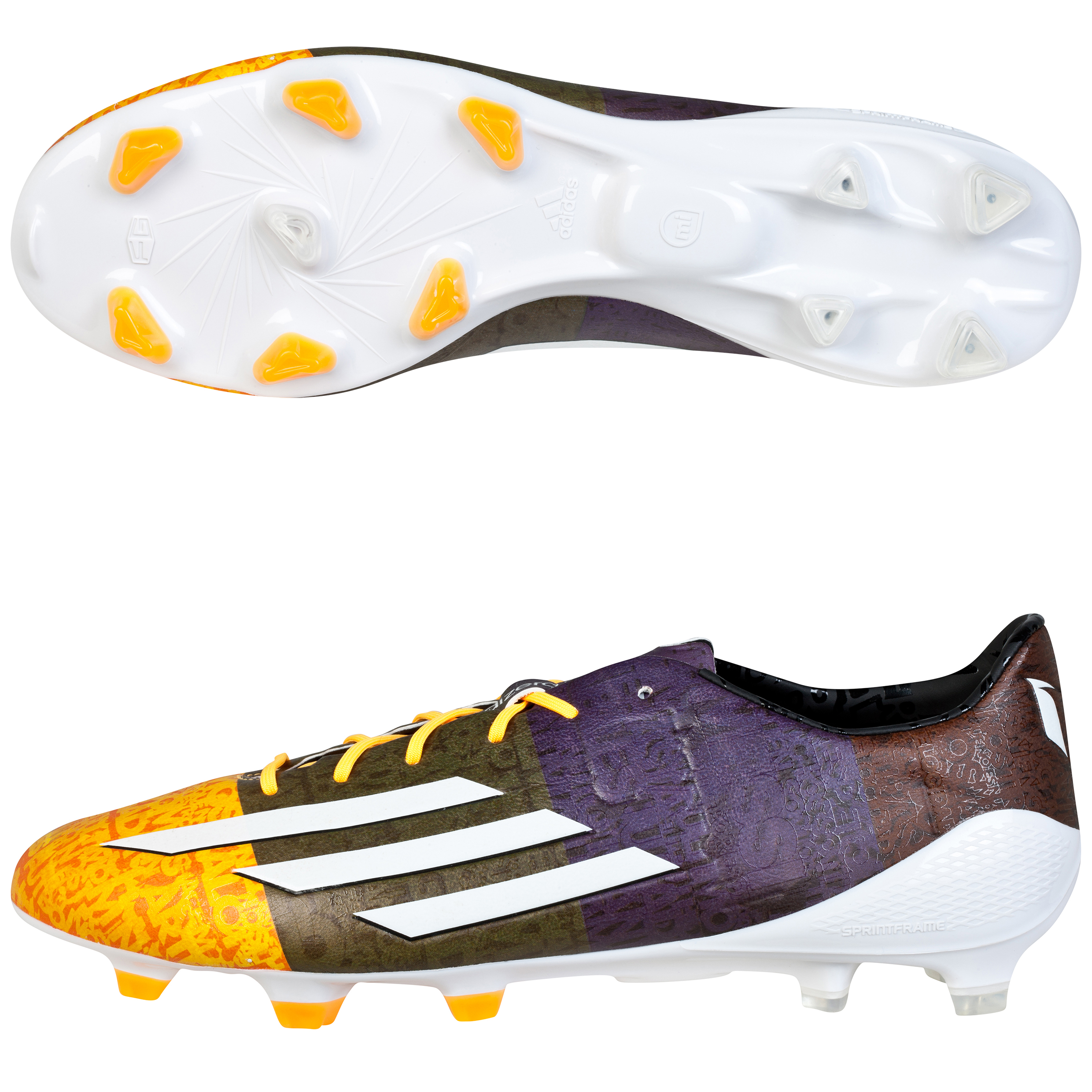 Adidas F50 adizero Messi Firm Ground Football Boots Orange