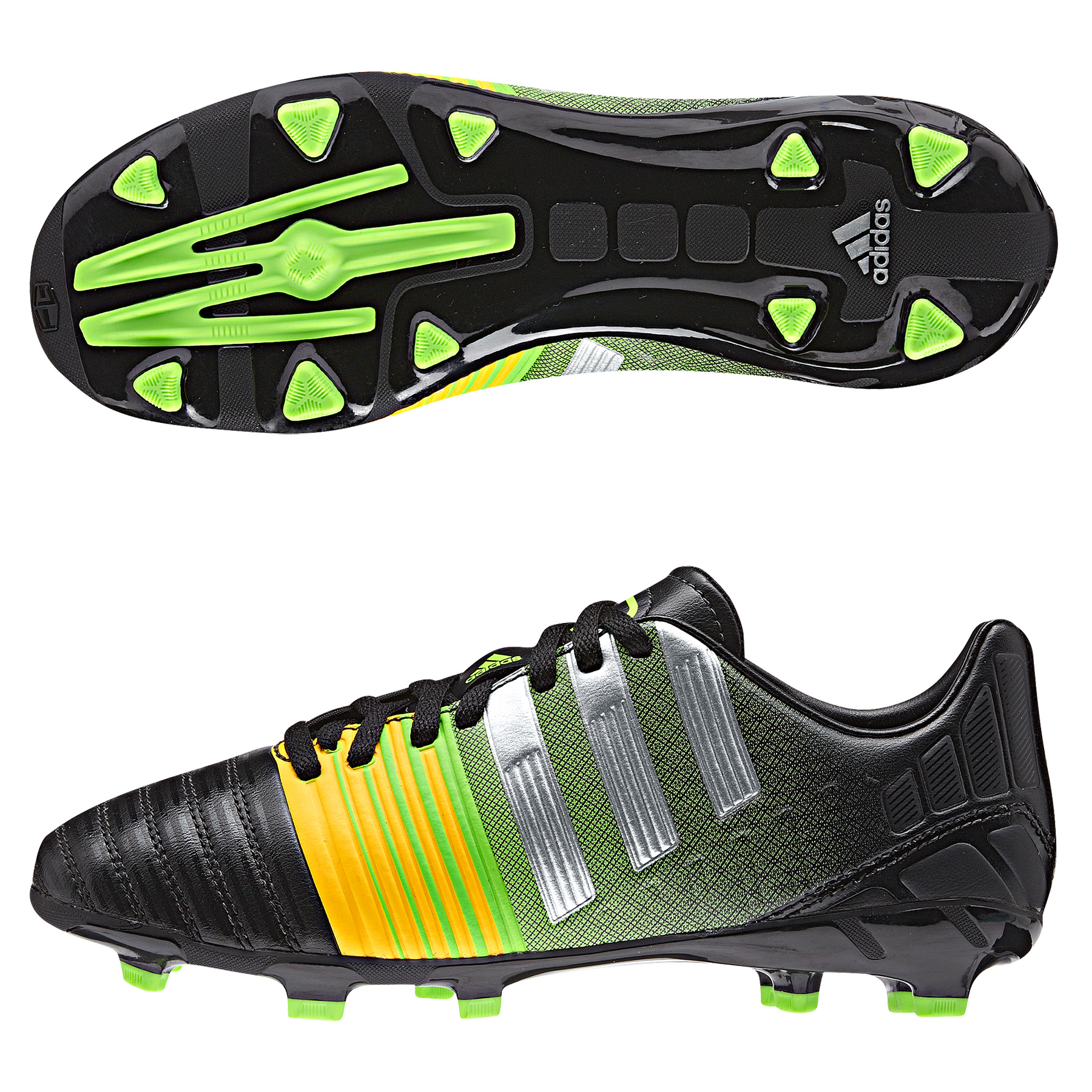 Adidas Nitrocharge 3.0 Firm Ground Football Boots  Kids Black