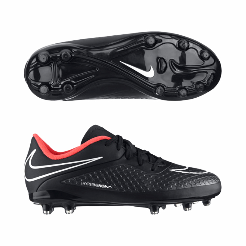 Nike Hypervenom Phelon Firm Ground Football Boot - Kids Black