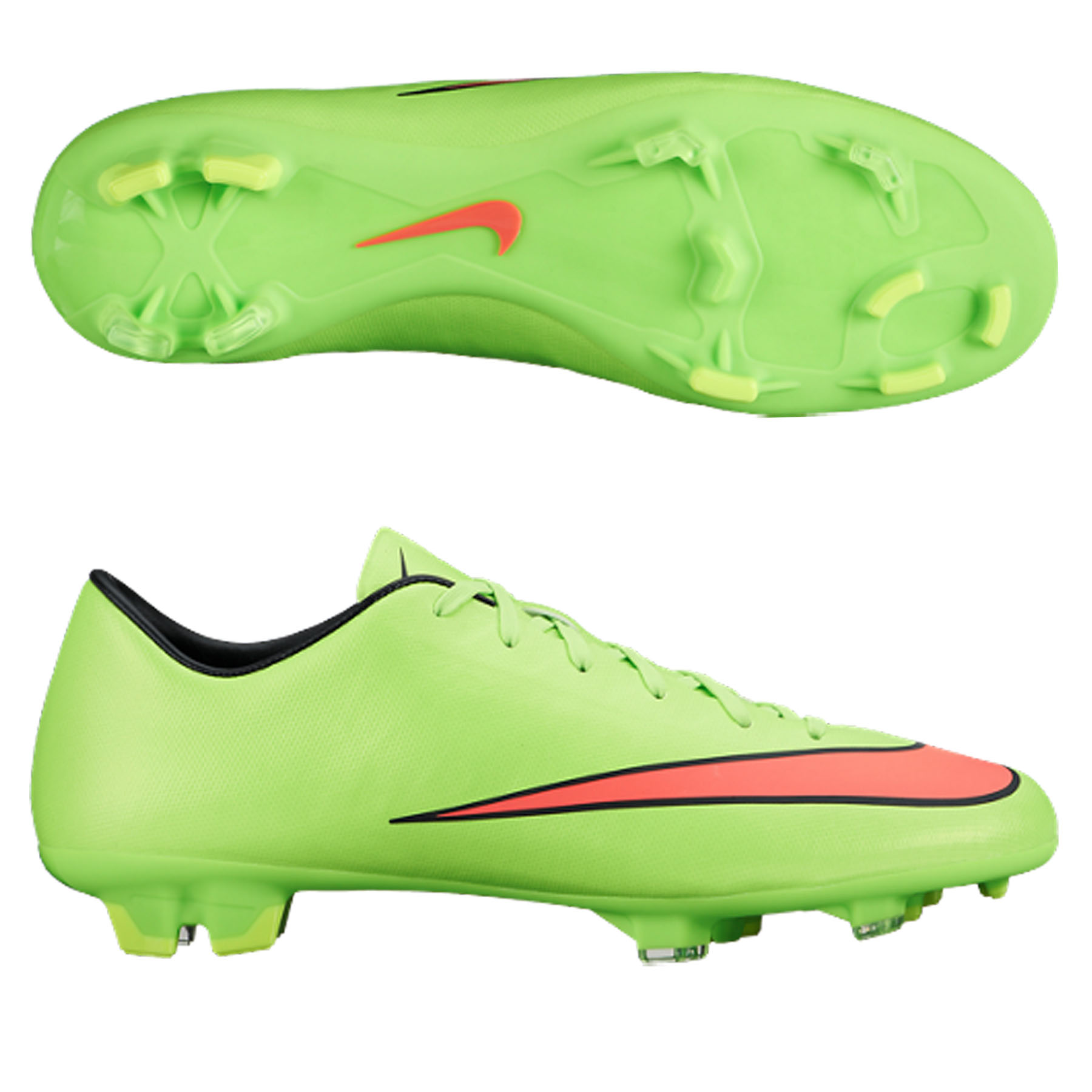 Nike Mercurial Victory V Firm Ground Football Boot  Kids Green