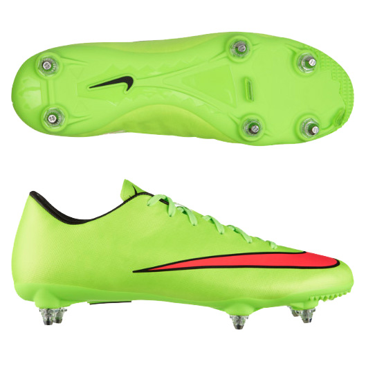 Nike Mercurial Victory V Soft Ground Football Boot  Kids Green