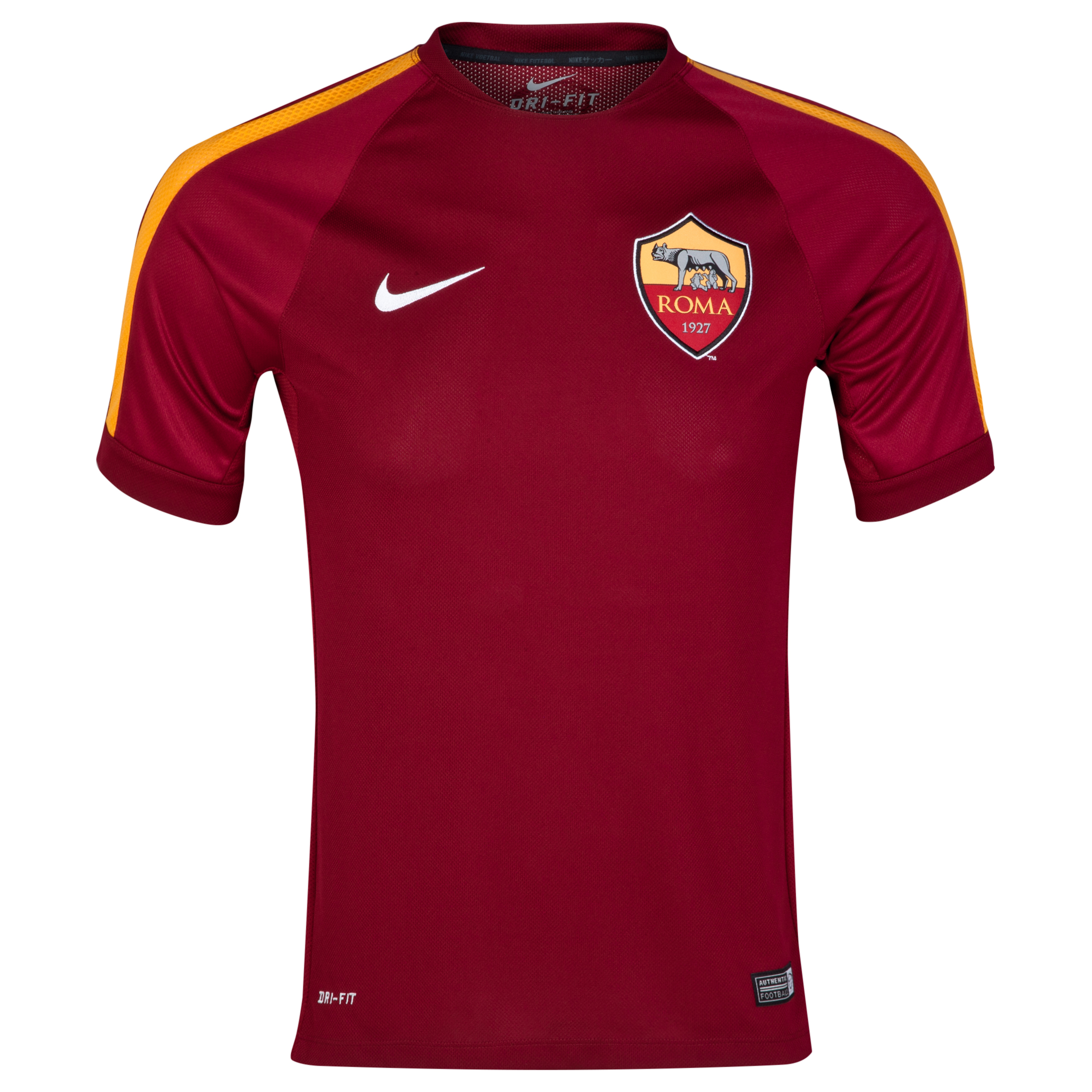 AS Roma Squad Short Sleeve Training Top Red