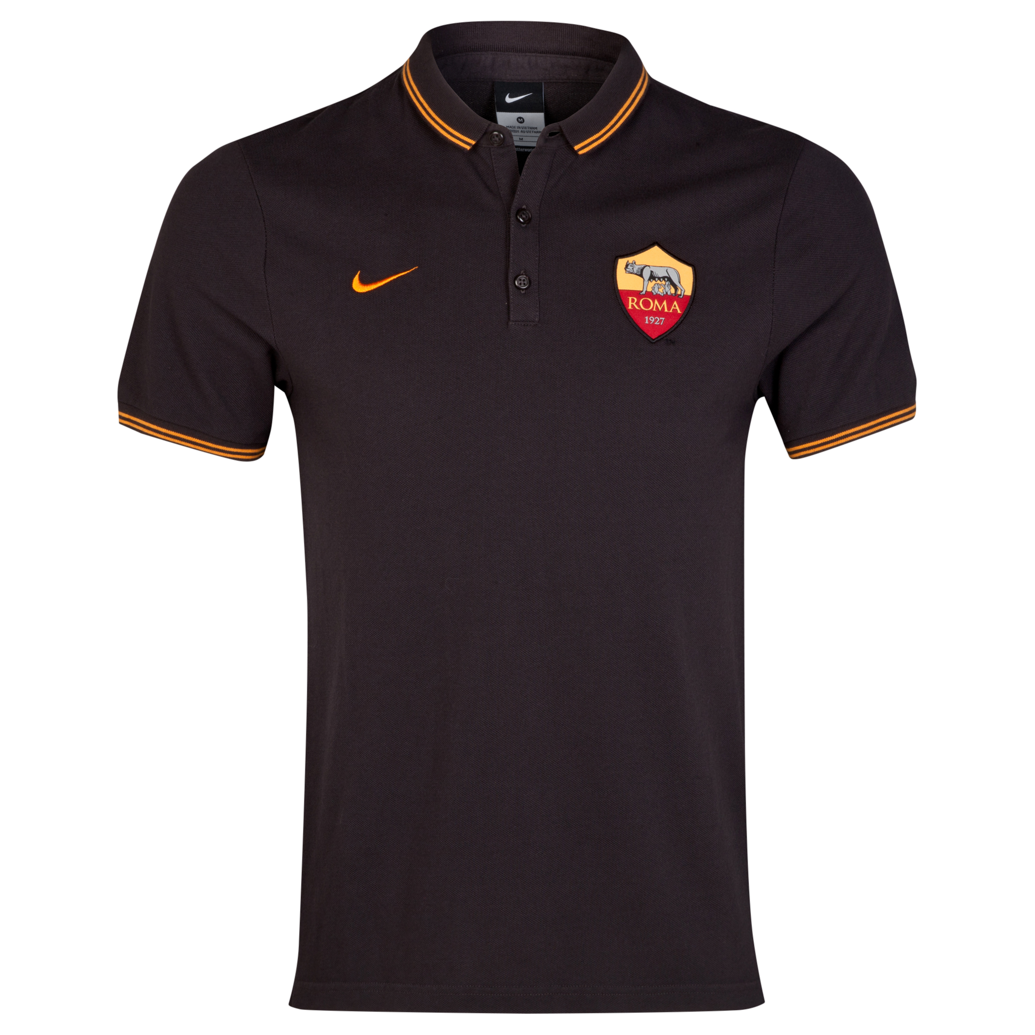 AS Roma League Authentic Polo Black