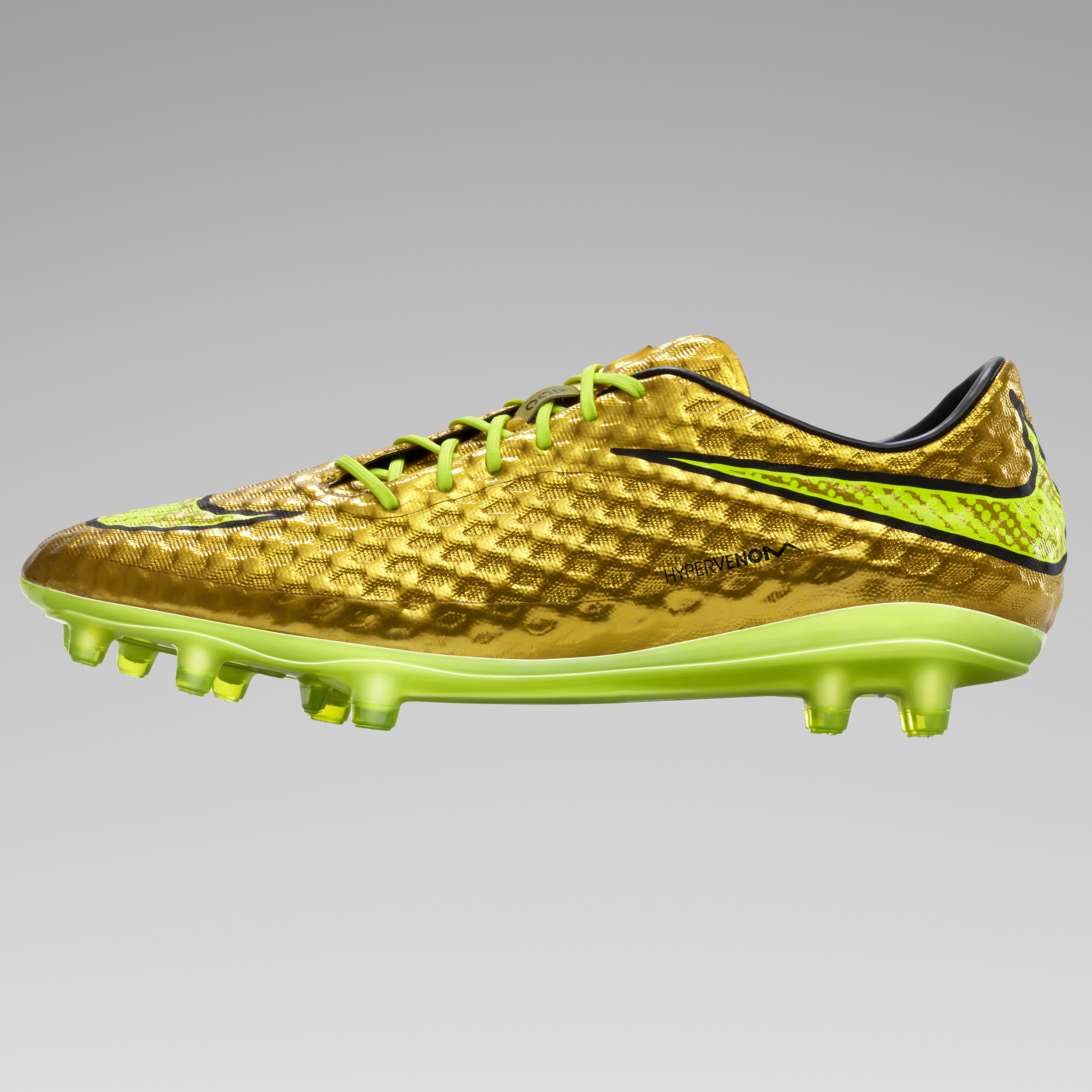 Nike Hypervenom Phantom Prem Firm Ground Football Boots Gold