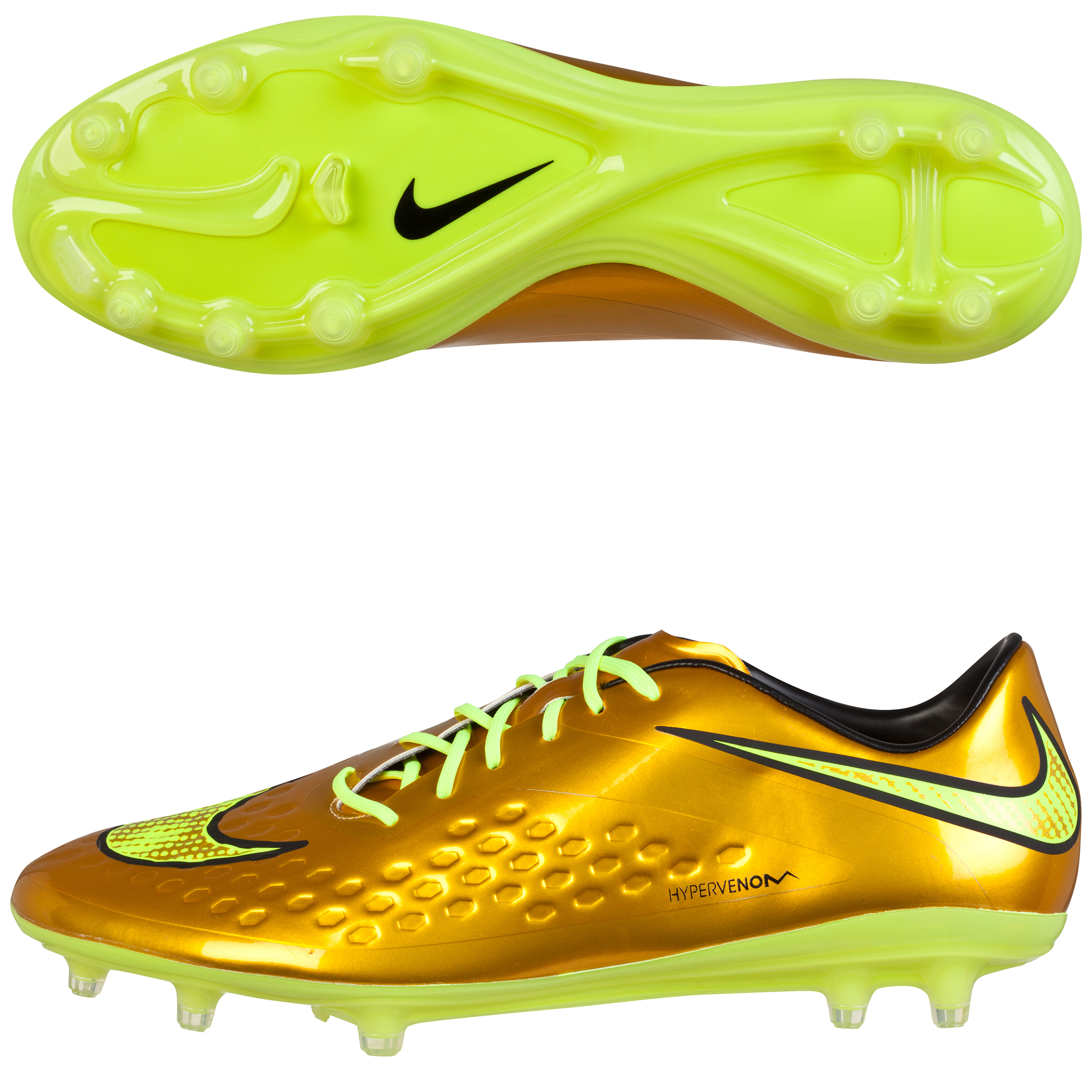 Nike Hypervenom Phatal Prem Firm Ground Football Boots Gold