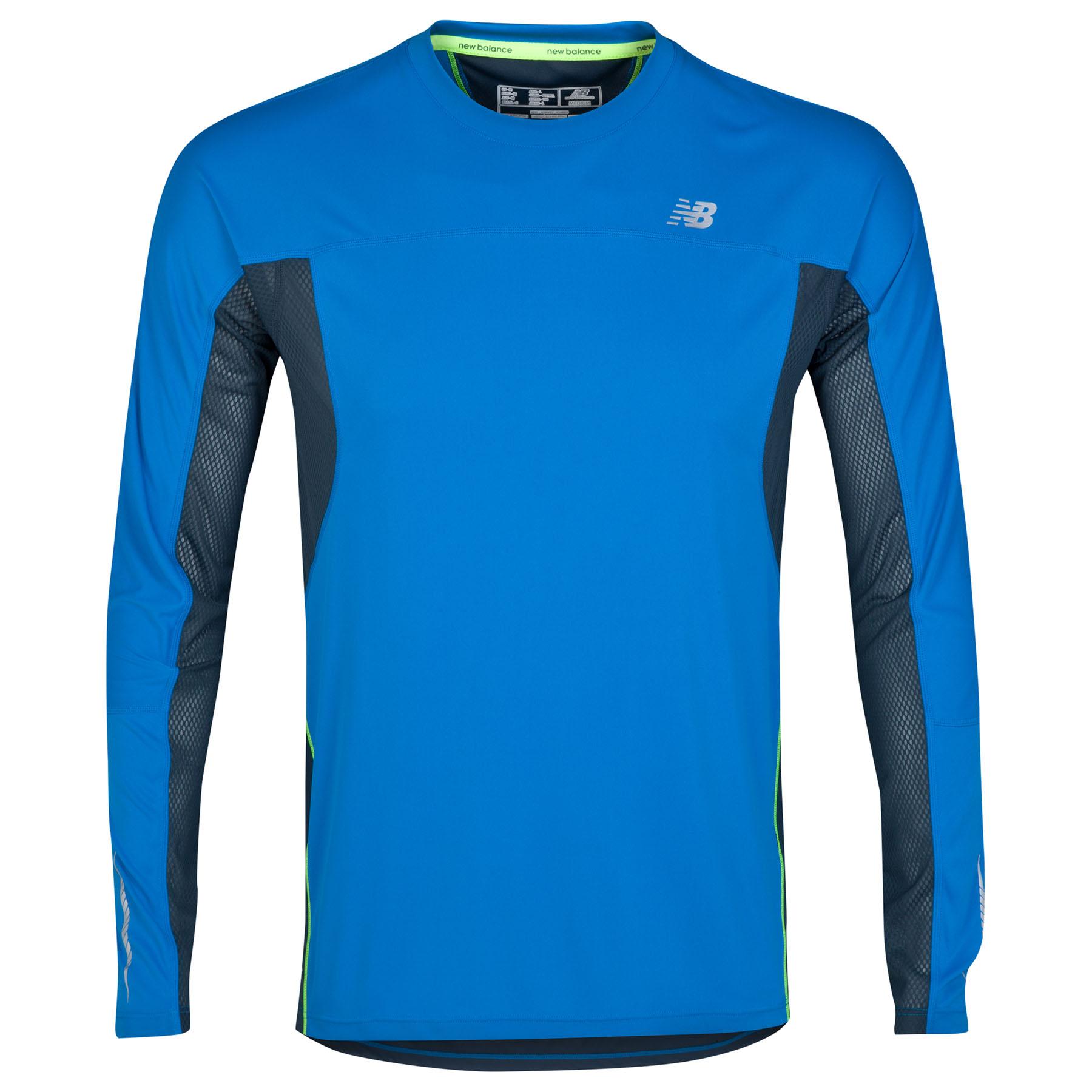 New Balance Impact Ice T-Shirt - Long Sleeve Blue