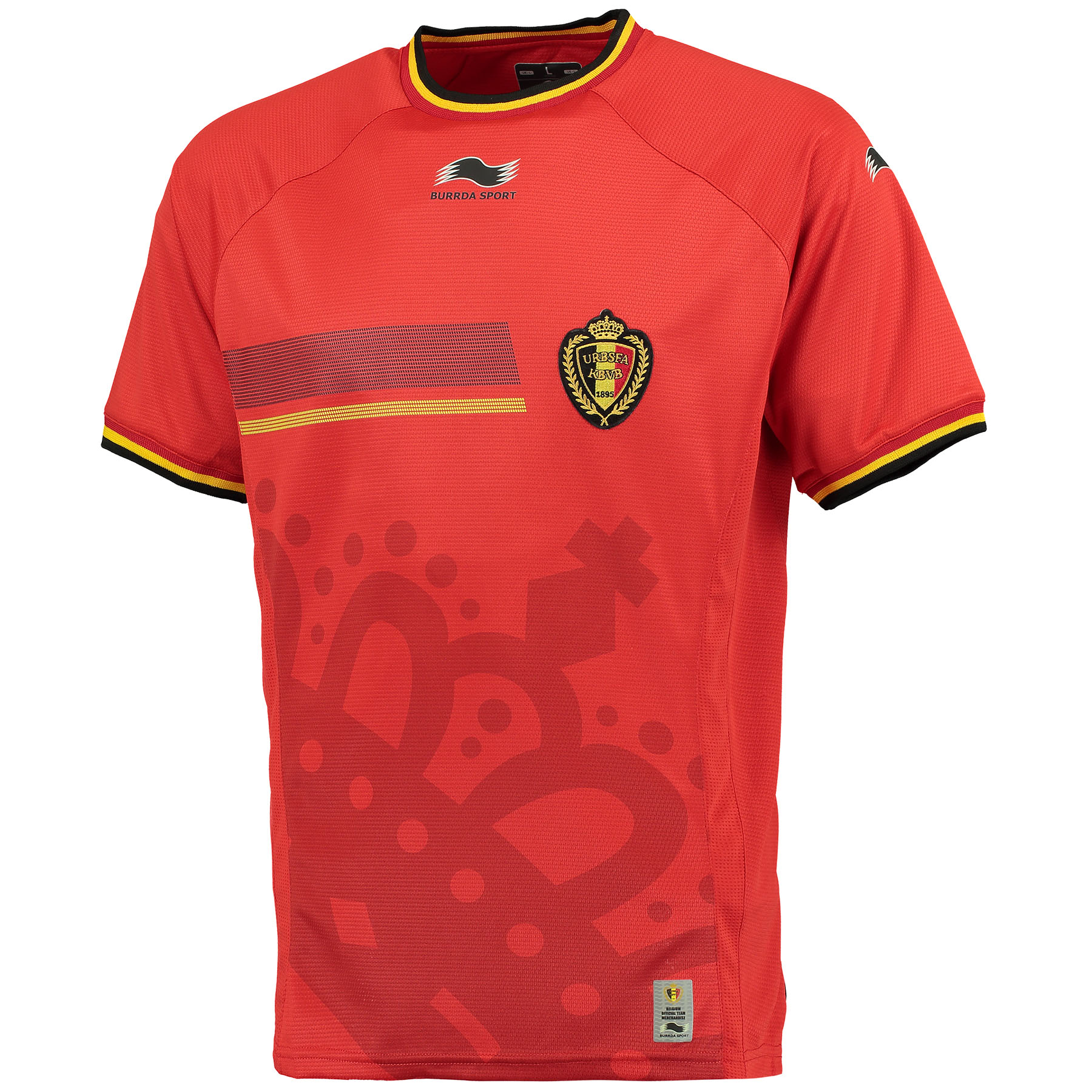 Belgium Home Shirt 2014 Red Red