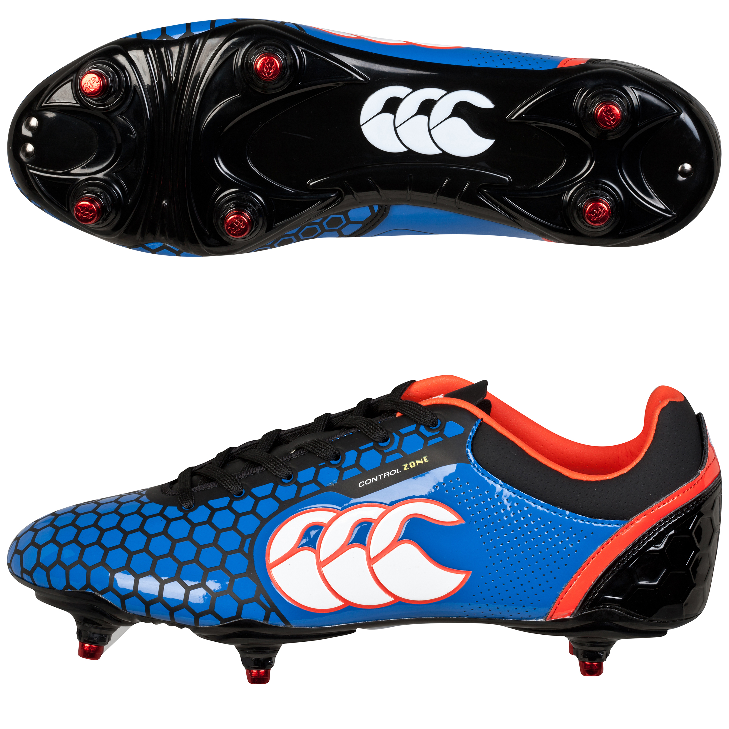 """Image of """"Canterbury Control Club Soft Ground Boot Blue"""""""