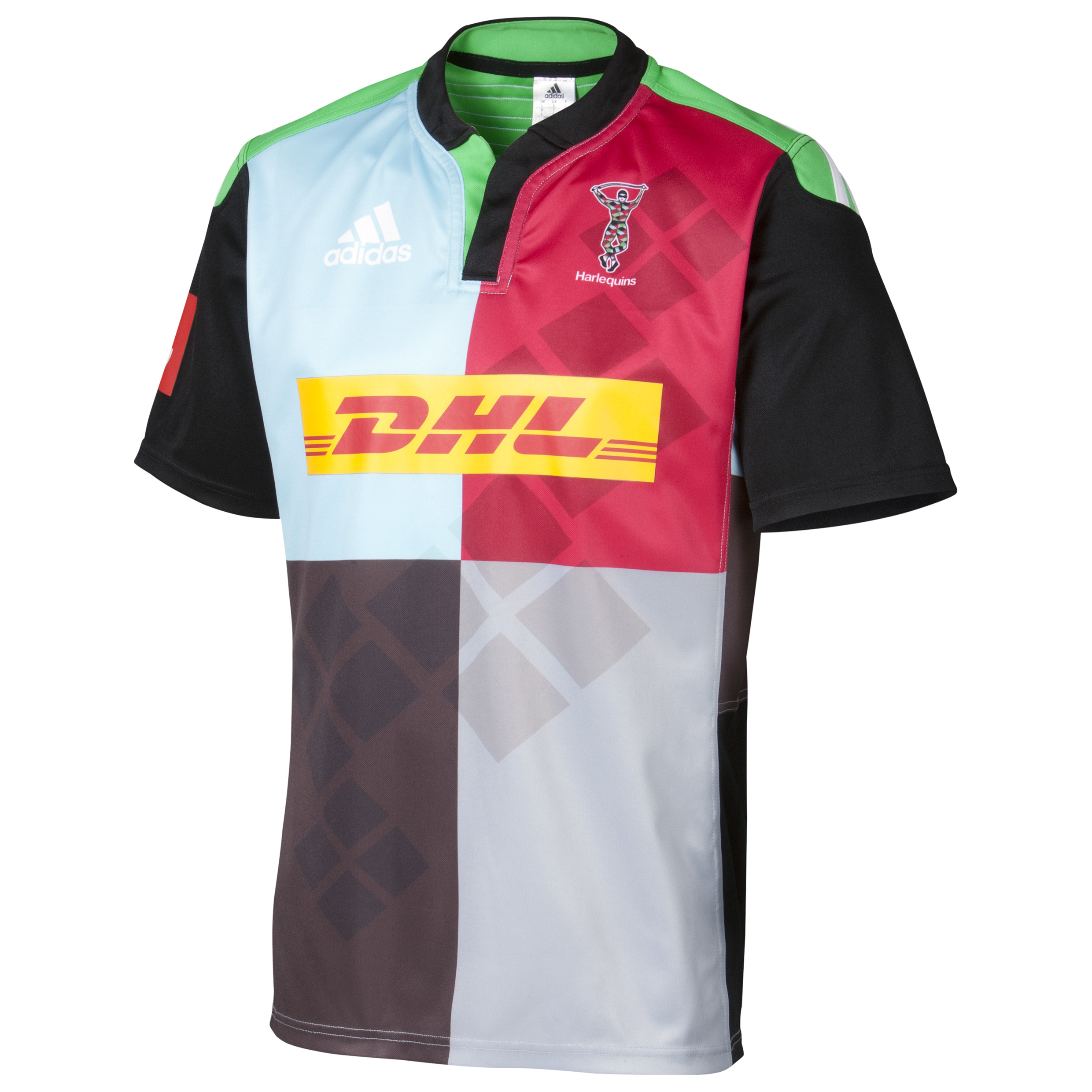 Harlequins Home Short Sleeve Shirt 2014/15 Black