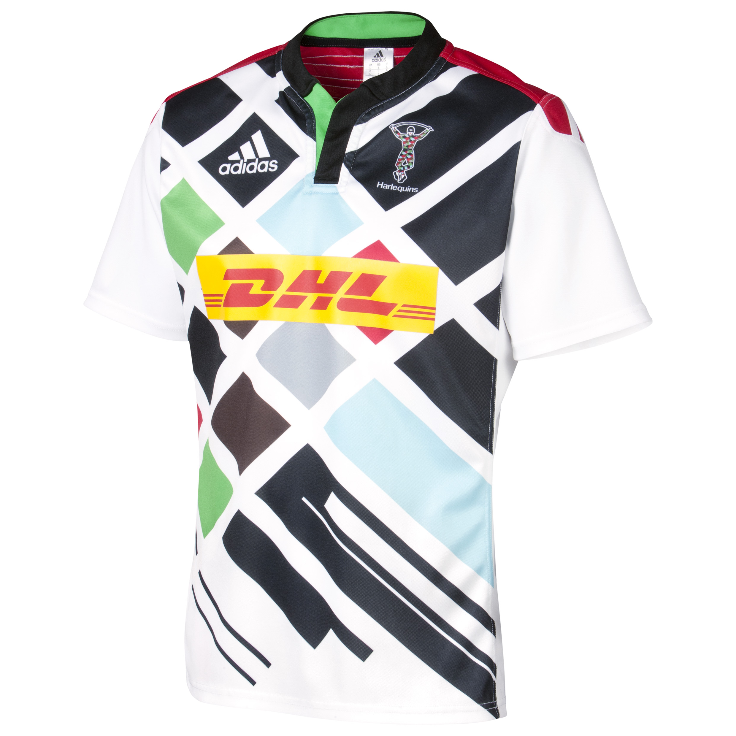 Harlequins Away Short Sleeve Shirt 2014/15 White