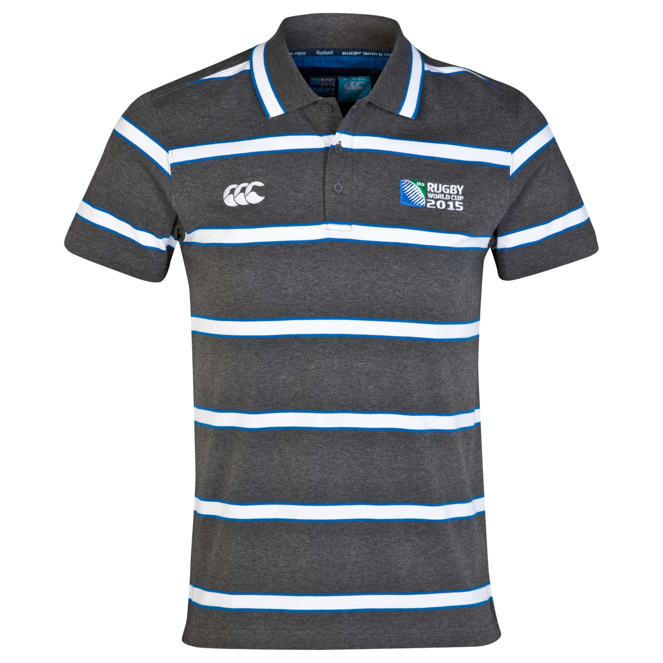 Canterbury Rugby World Cup Challenger Polo Charcoal