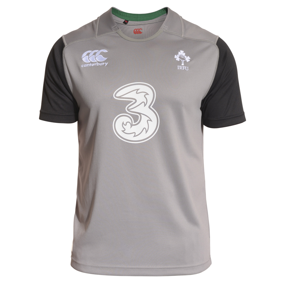 Ireland Training Short Sleeve Rugby Top Dk Grey