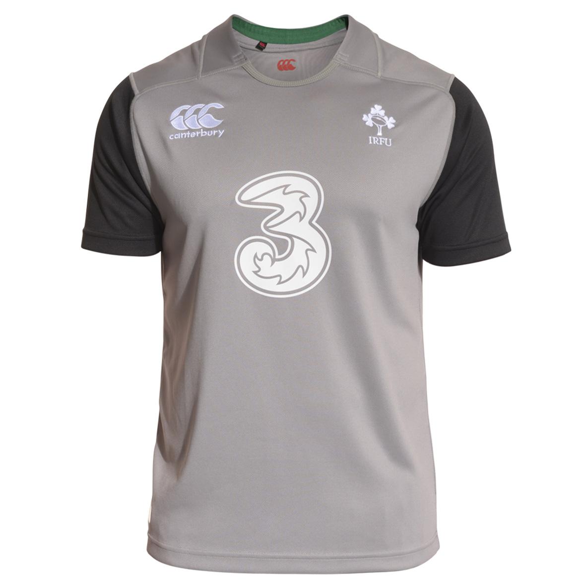 Ireland Training Short Sleeve Rugby Top Dk Grey
