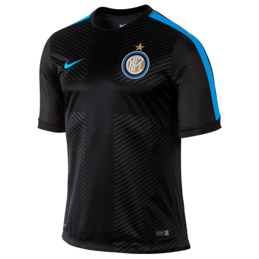 Inter Milan Squad Short Sleeve Pre Match Top Black