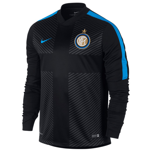 Inter Milan Squad Long Sleeve Thermal Pre Match Top Black
