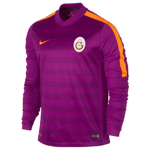 Galatasaray Squad Long Sleeve Thermal Pre Match Top Purple