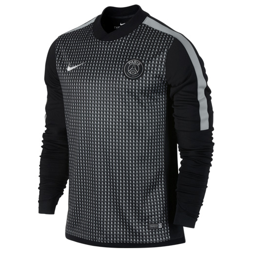 Paris Saint-Germain Squad Long Sleeve Thermal Pre Match Top Black