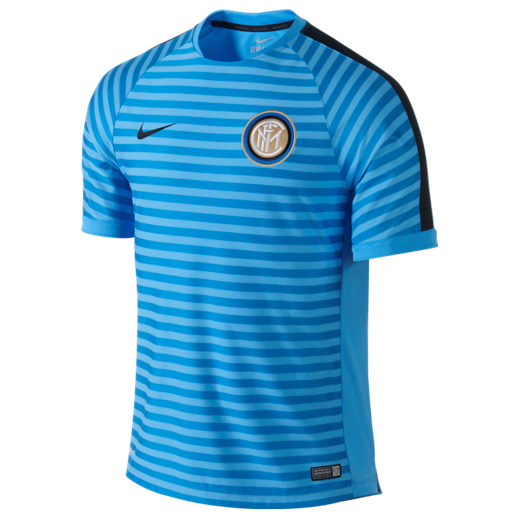 Inter Milan Squad Short Sleeve Training Top Blue
