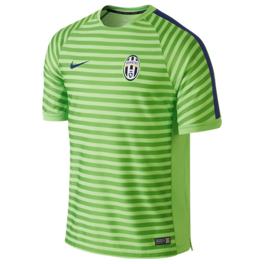 Juventus Squad Short Sleeve Training Top Green