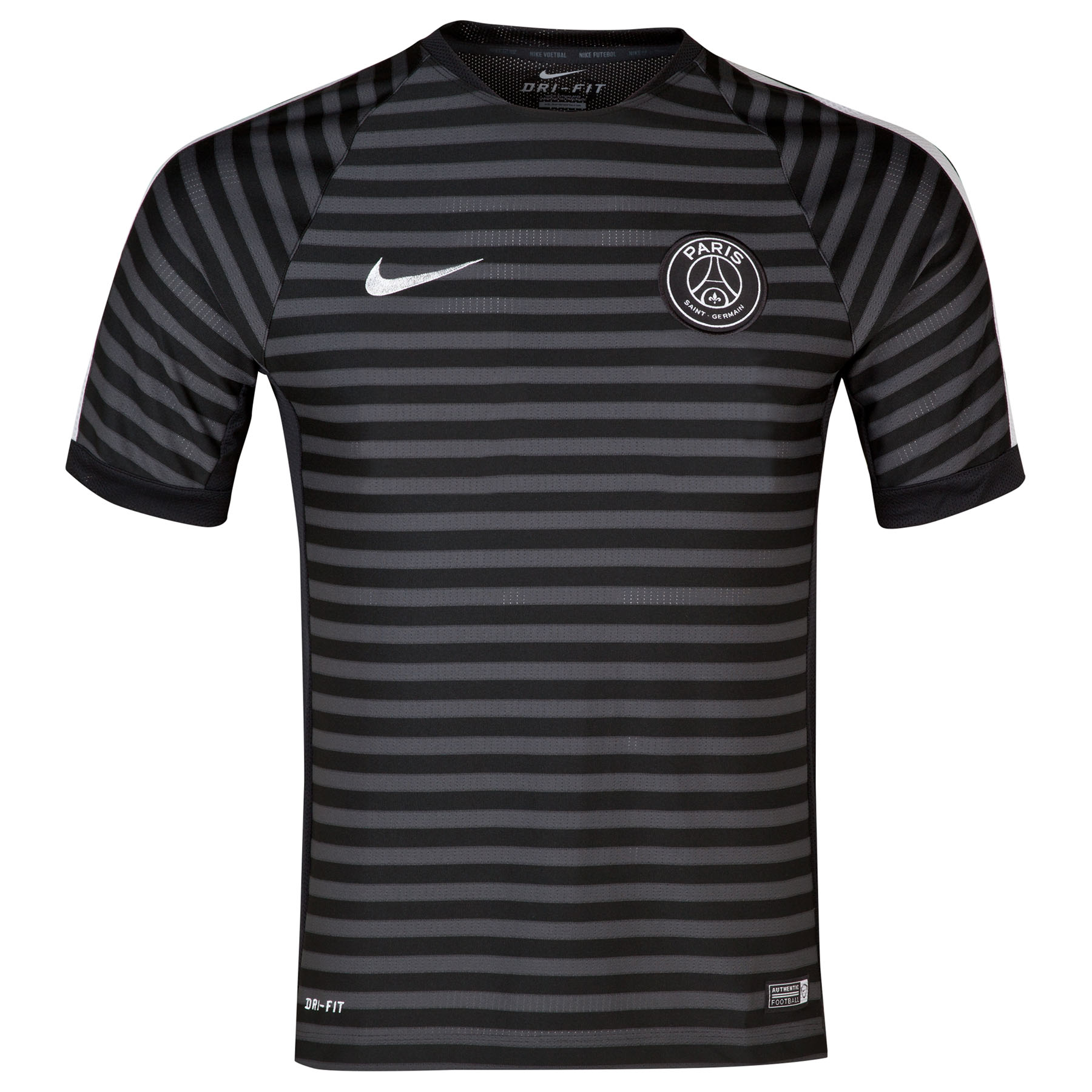 Paris Saint-Germain Squad Short Sleeve Training Top Black