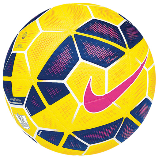 Nike Ordem 2 Premier League Hi-Vis Football Yellow