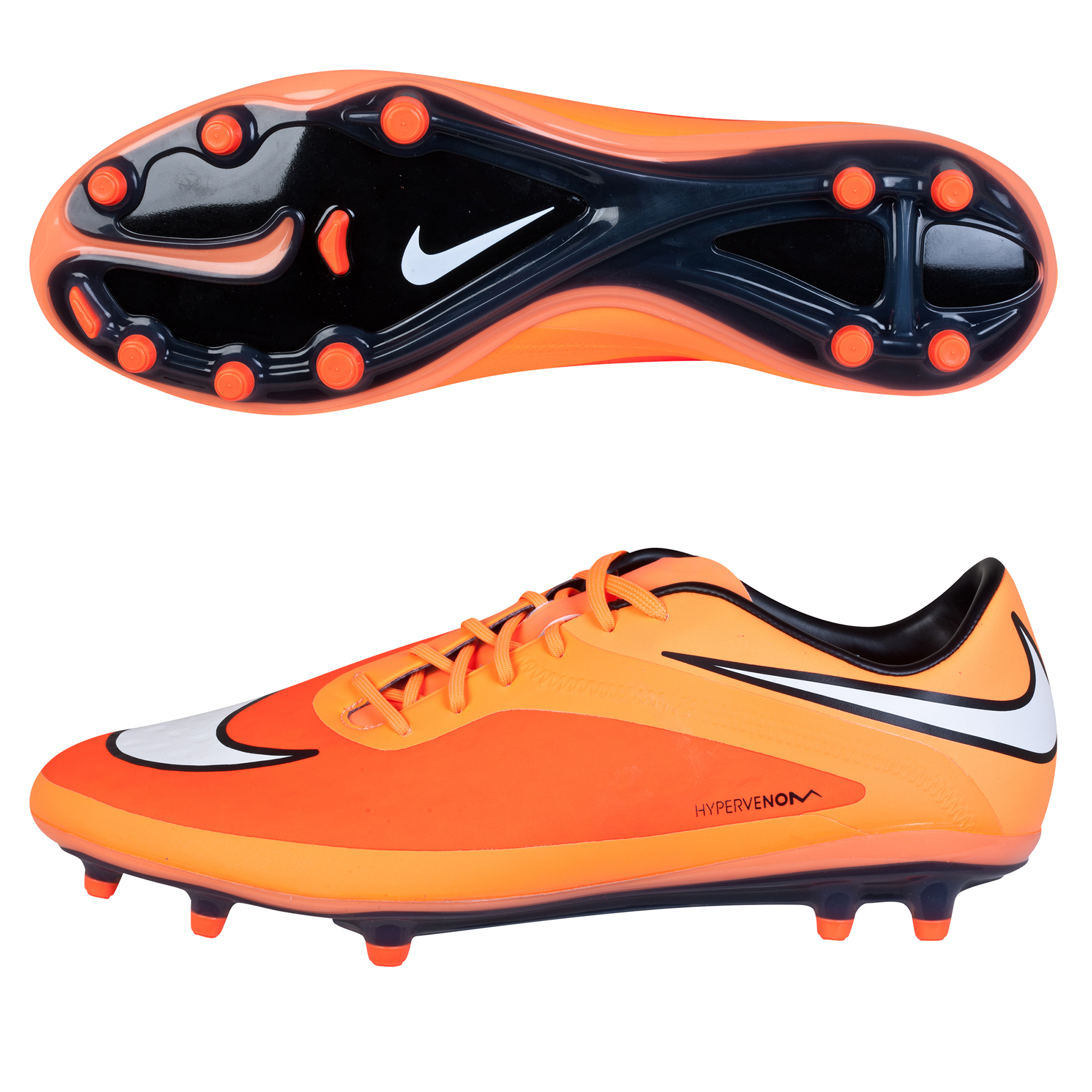 Nike Hypervenom Phatal Firm Ground Football Boots Orange