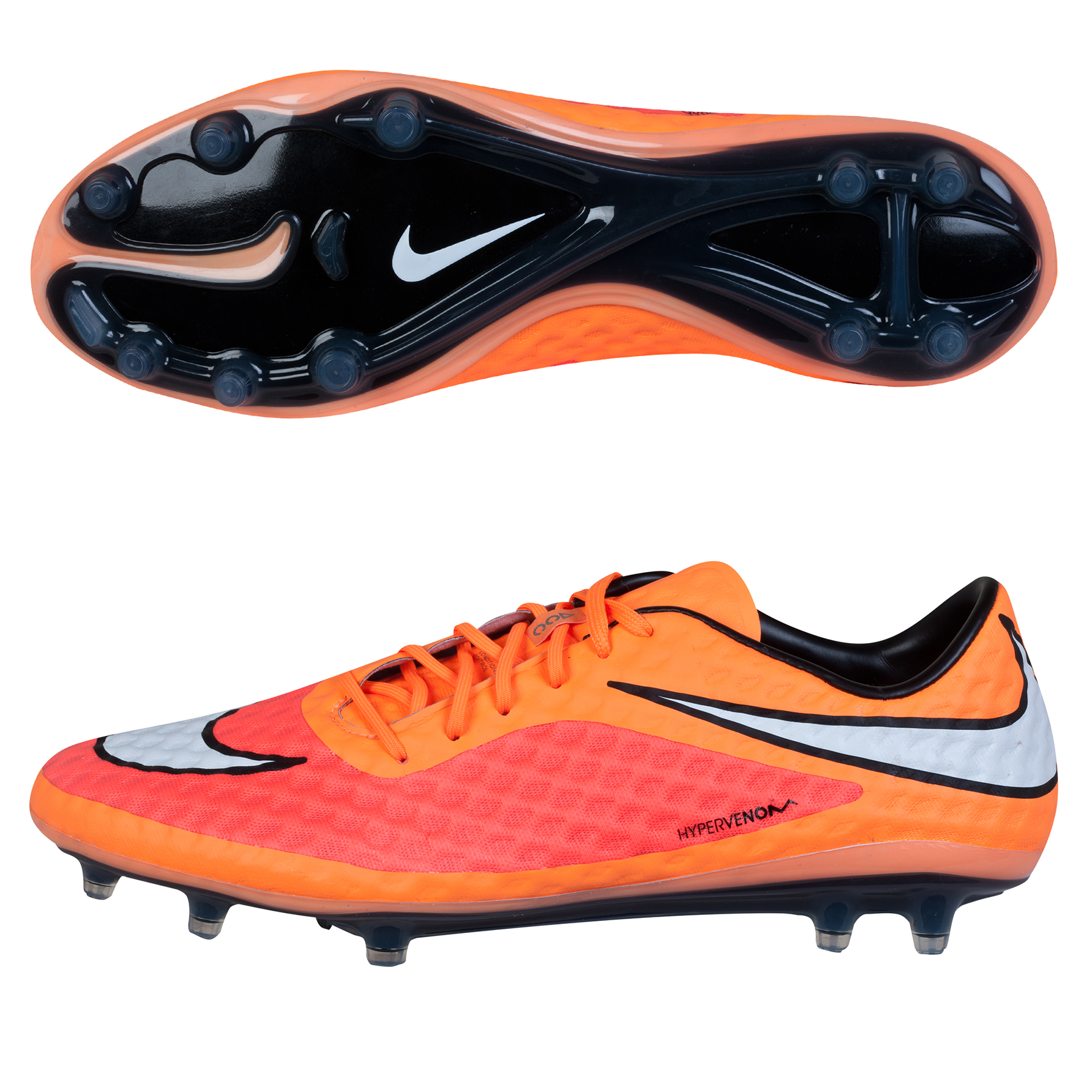 Nike Hypervenom Phantom Firm Ground Football Boots Orange
