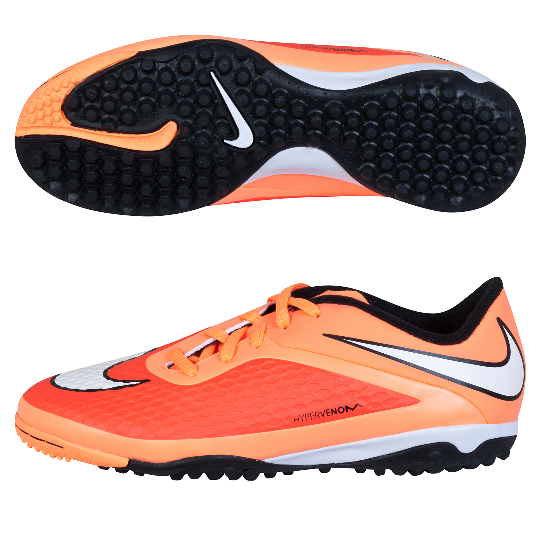 Nike Hypervenom Phelon Astroturf Trainers - Kids Orange