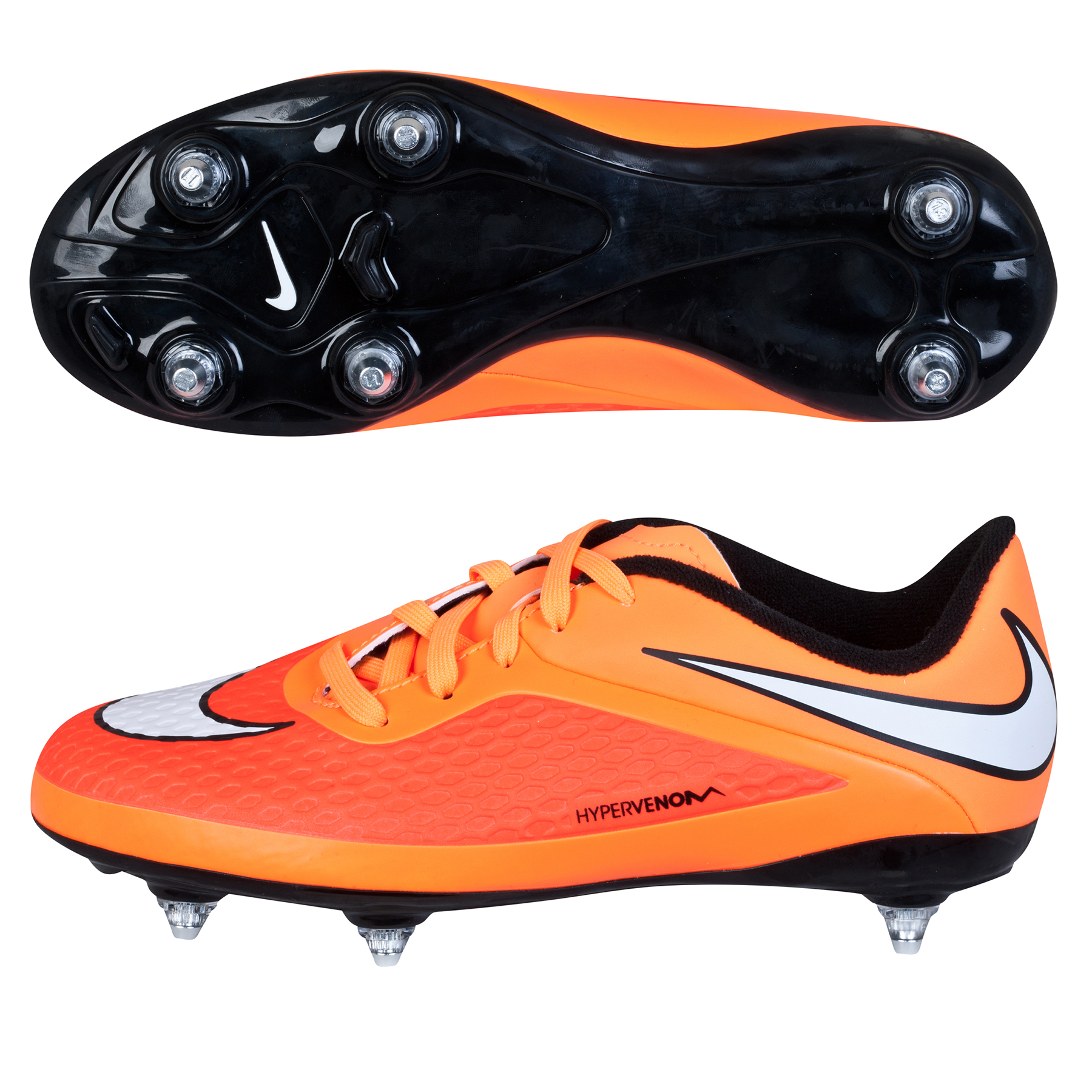 Nike Hypervenom Phelon Soft Ground Football Boots - Kids Orange