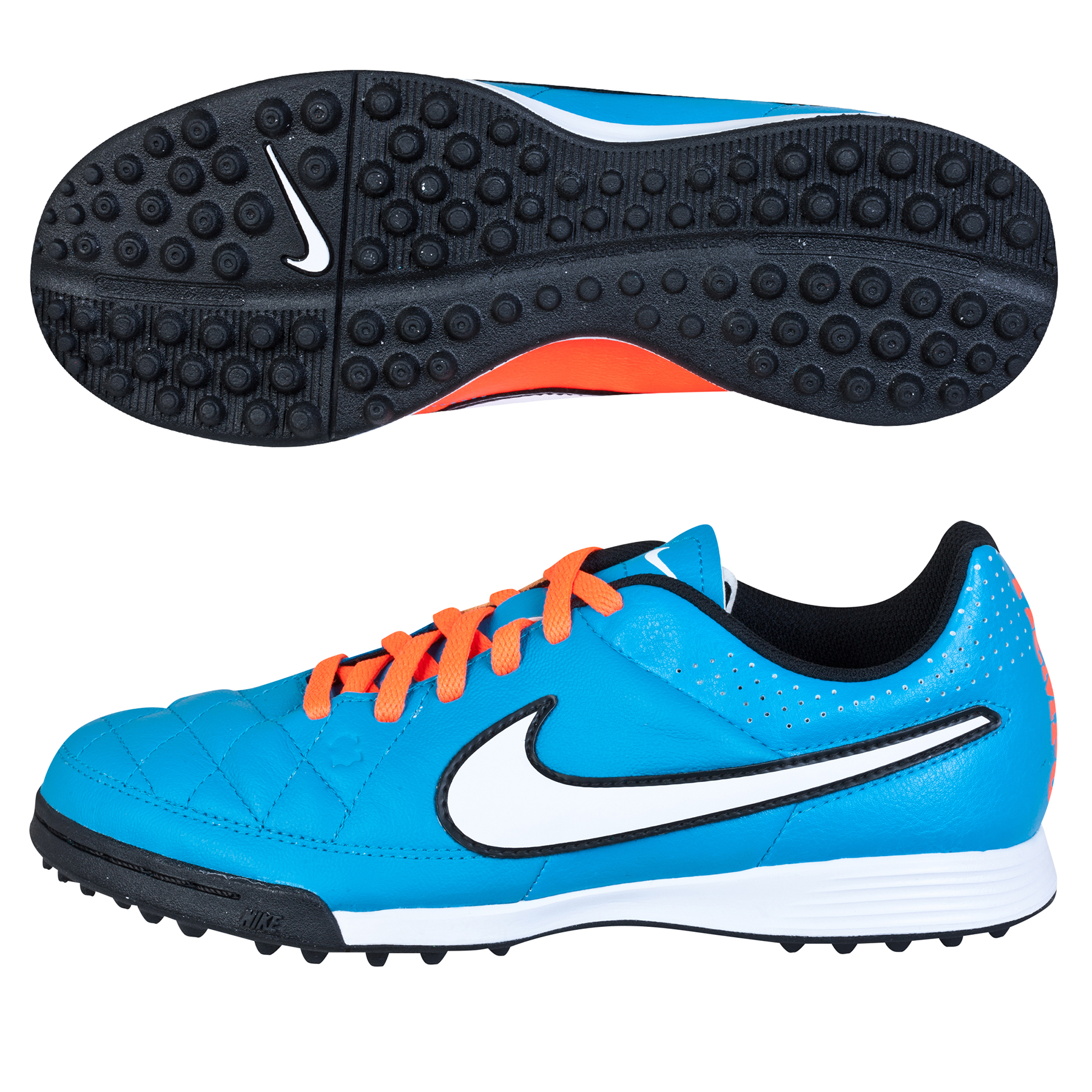 Nike Tiempo Genio Astroturf Trainers - Kids Sky Blue