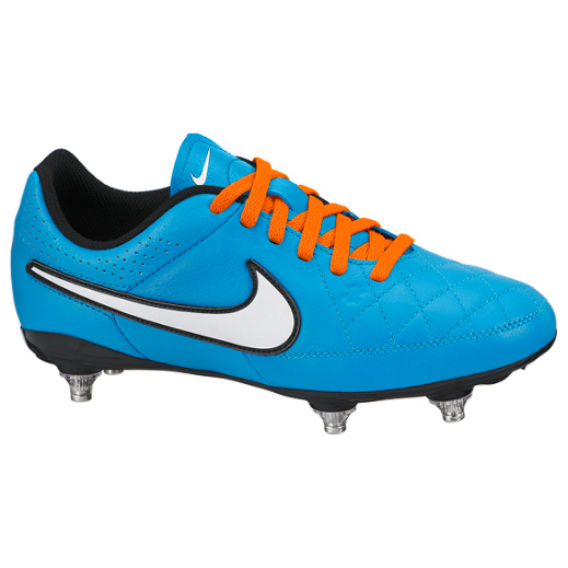 Nike Tiempo Genio Soft Ground Football Boots - Kids Sky Blue