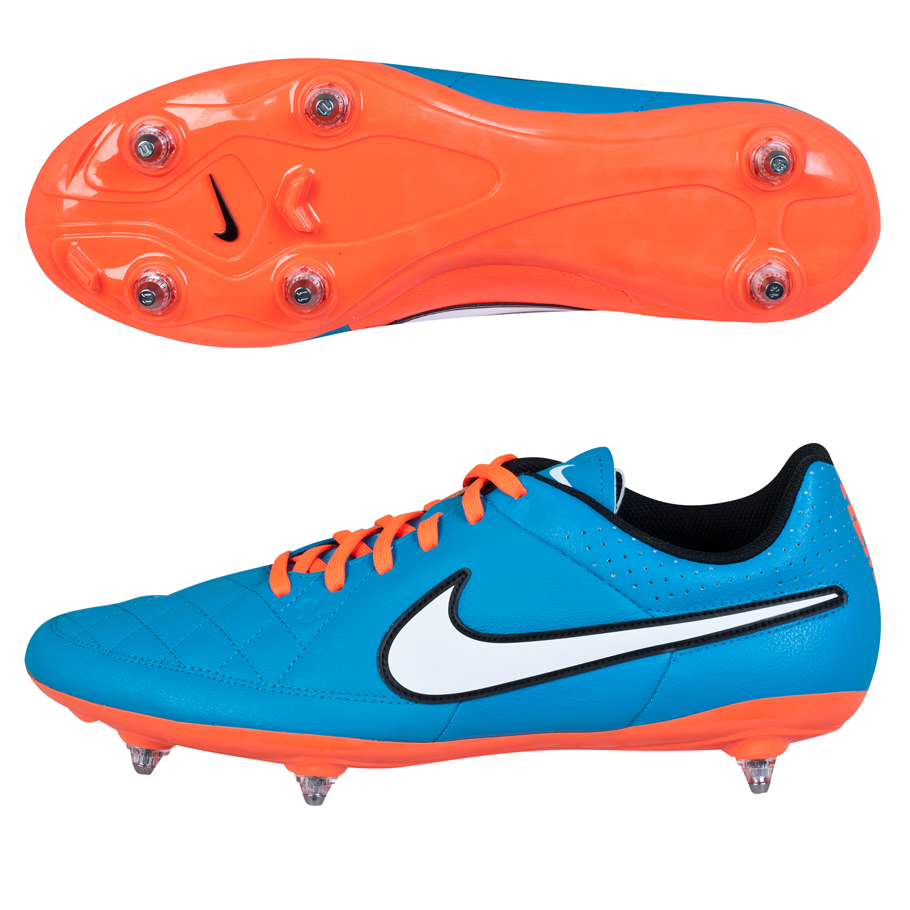 Nike Tiempo Genio Soft Ground Football Boots Sky Blue