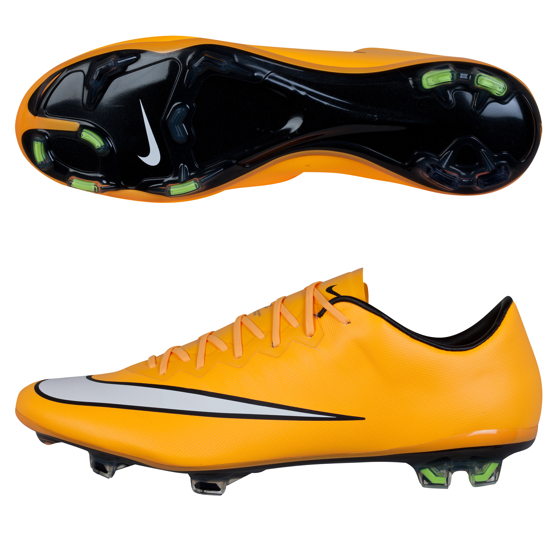 Nike Mercurial Vapor X Firm Ground Football Boots Orange