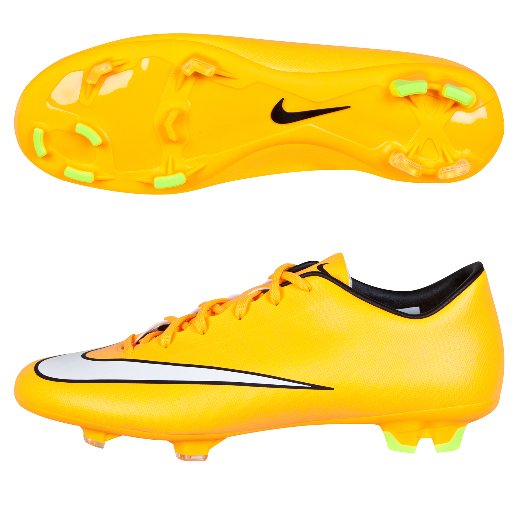 Nike Mercurial Victory V Firm Ground Football Boots - Kids Orange