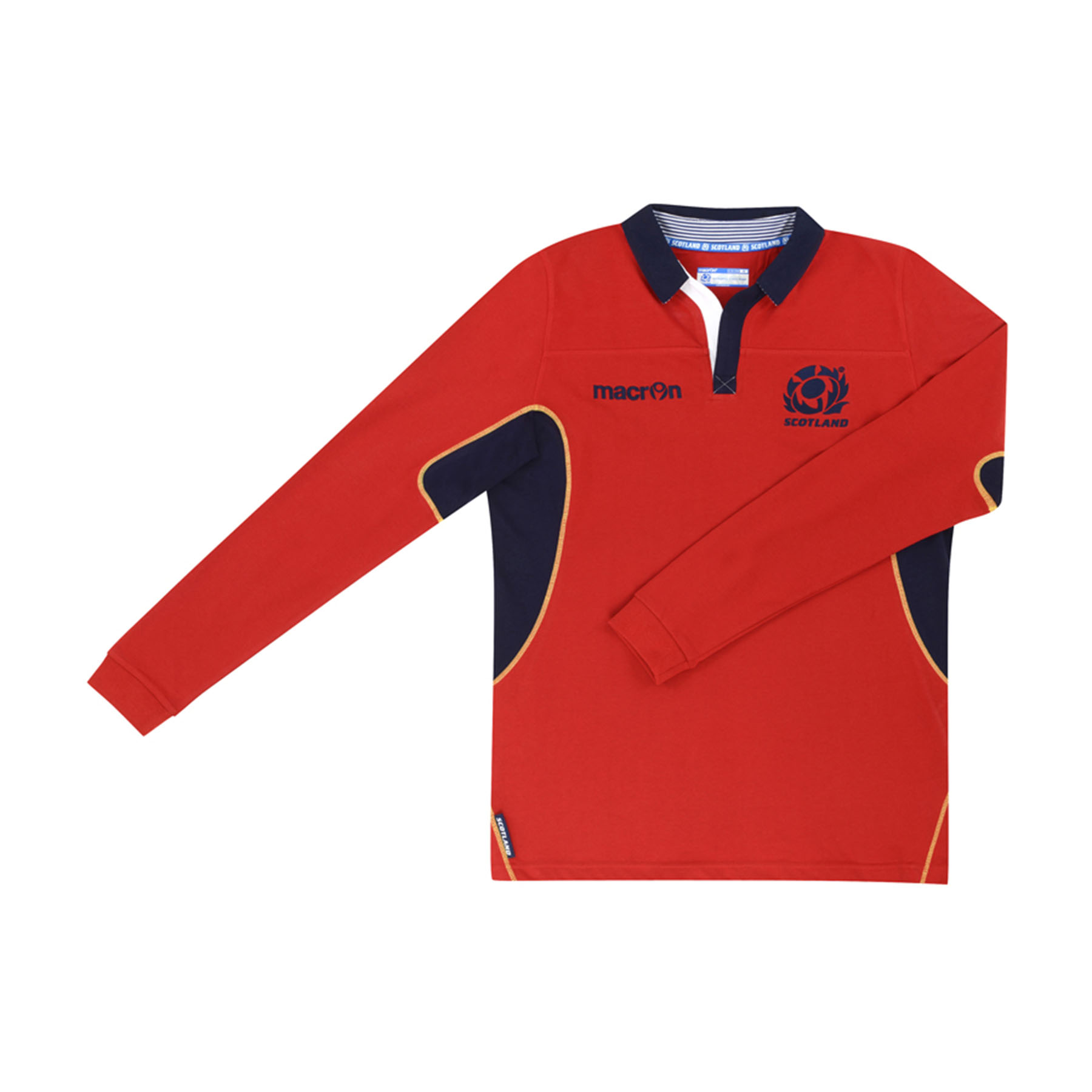 Scotland Rugby Cotton Away Shirt 2014/15 - Long Sleeved