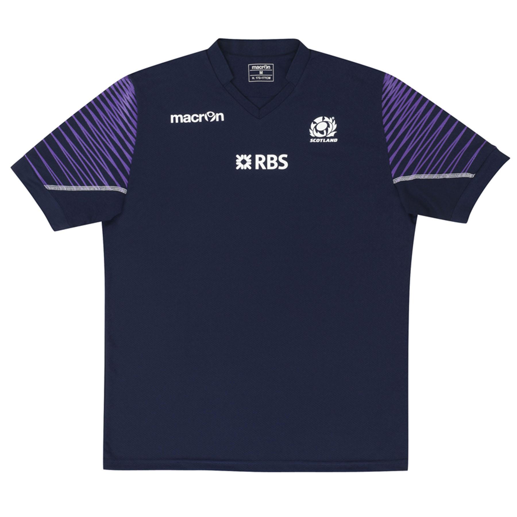 Scotland Training Poly T-Shirt Navy