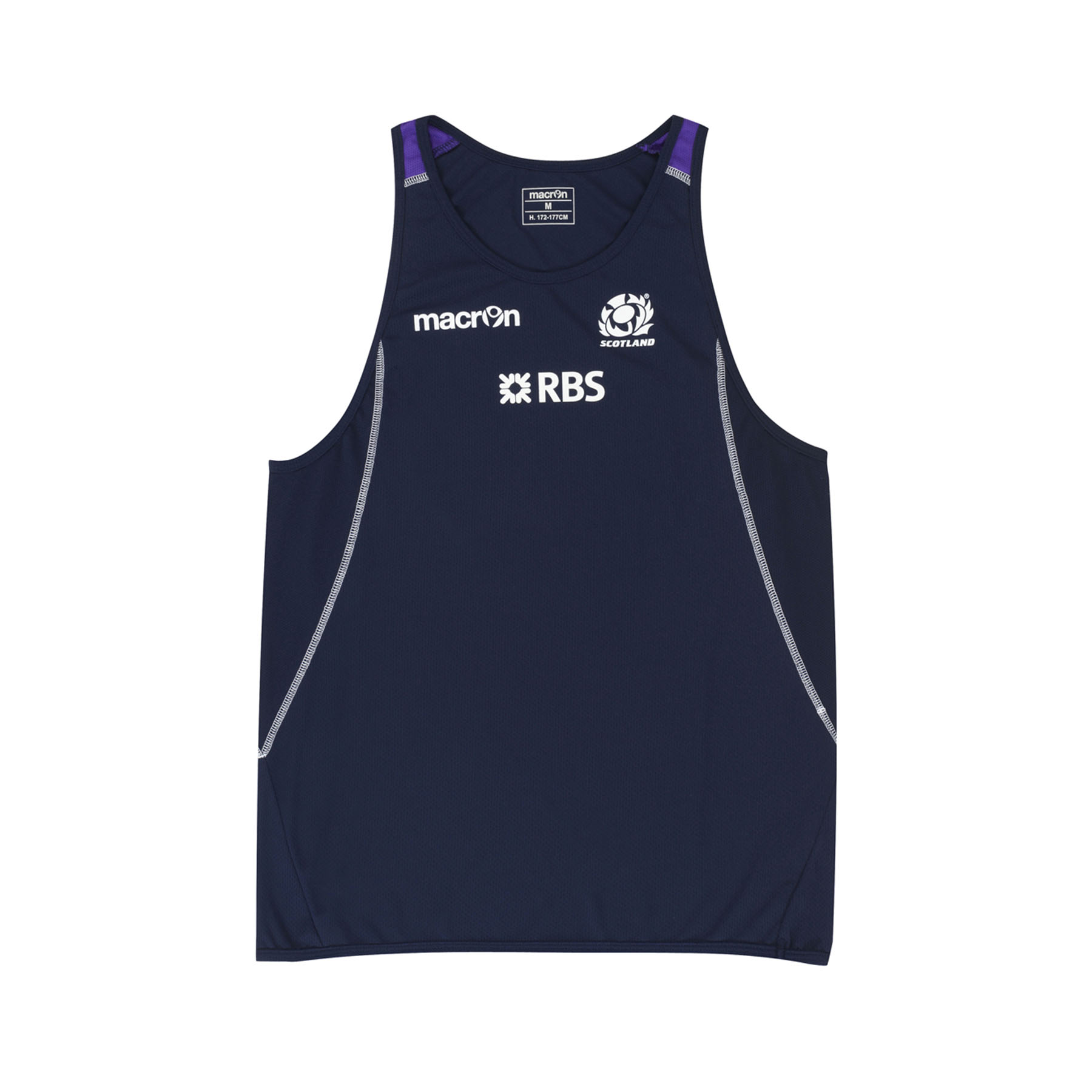 Scotland Training Poly Singlet Navy