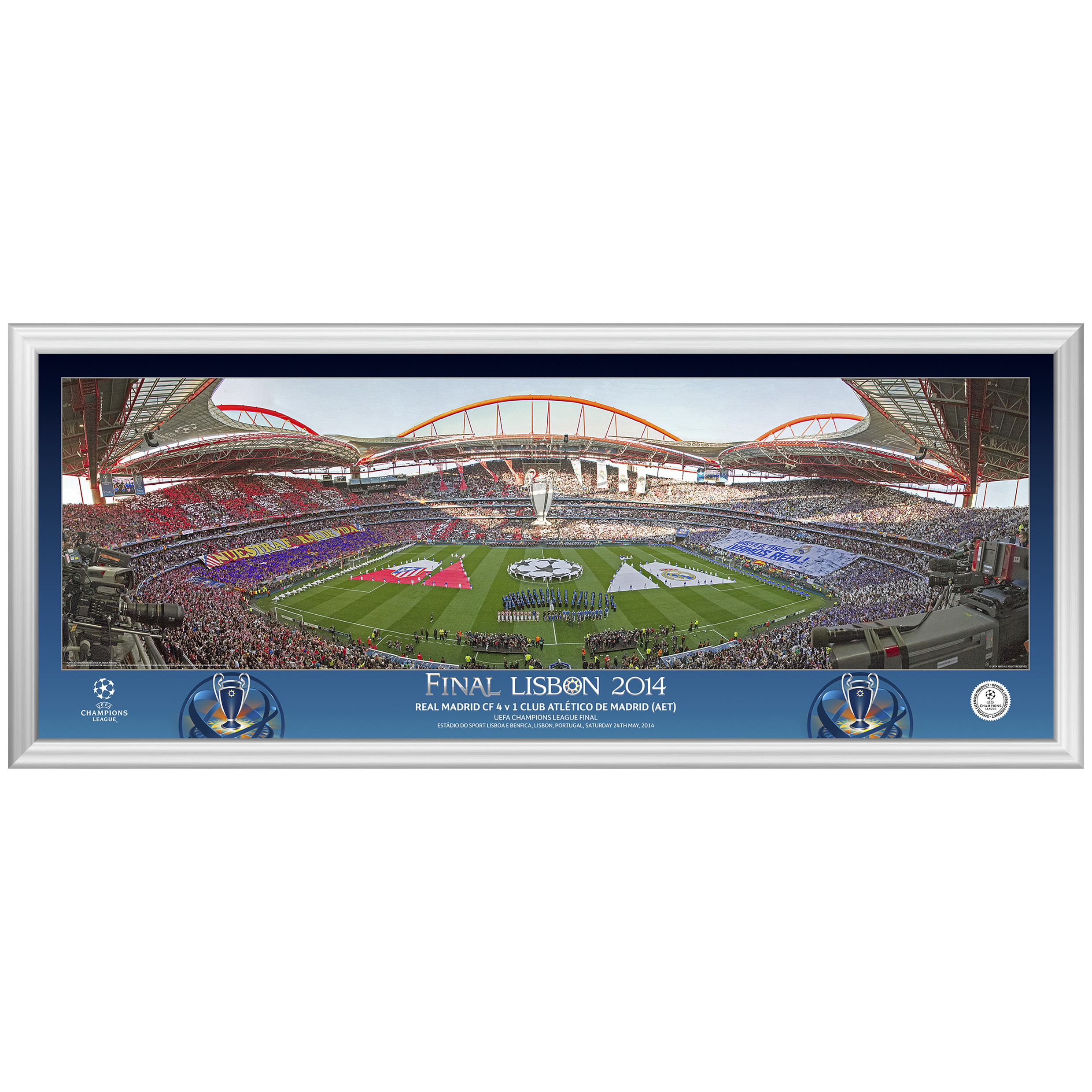 UEFA Champions League Final 2014 Line Up Panoramic Print - 30 x 12 Inch