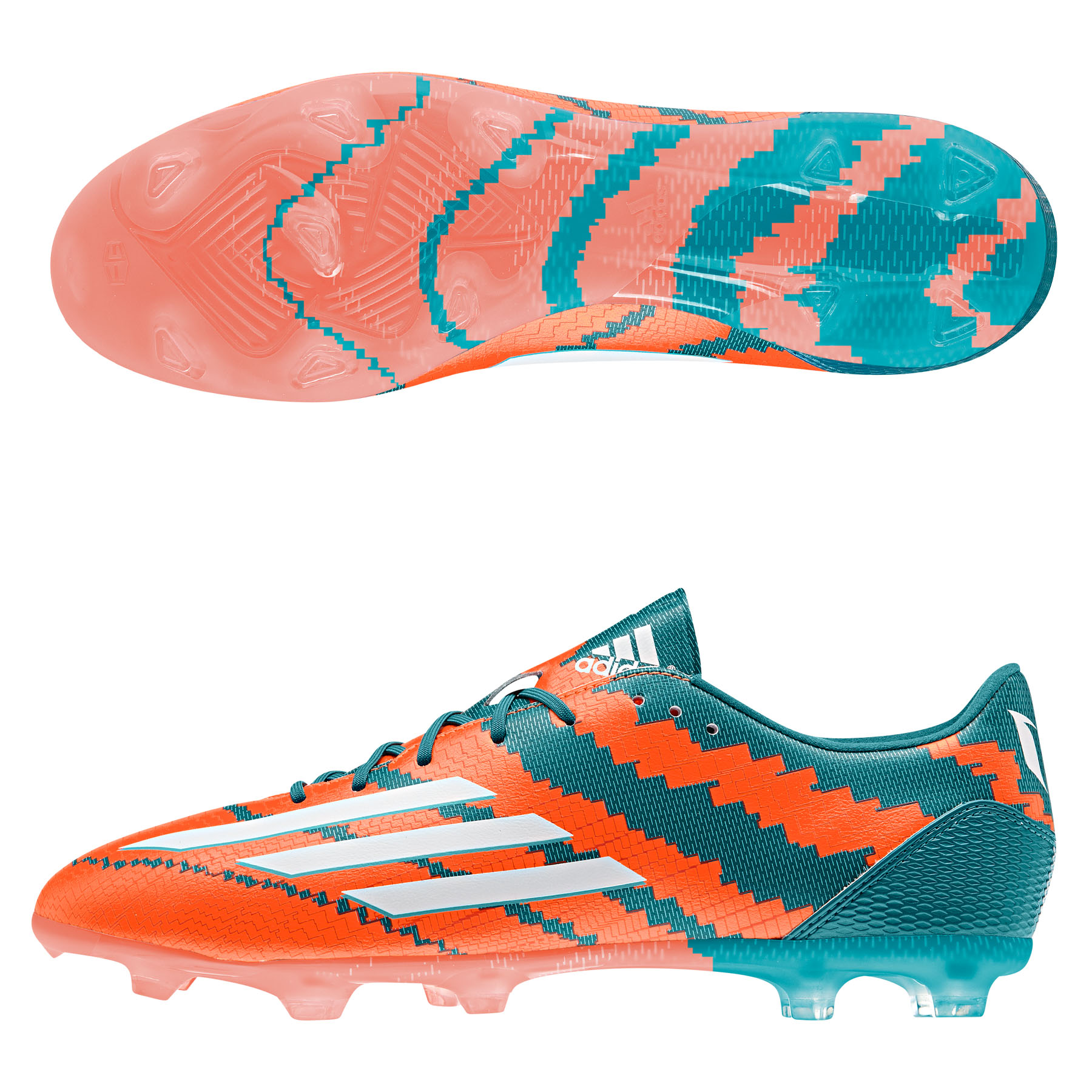 Adidas Messi 10.2 Firm Ground Football Boots Lt Blue