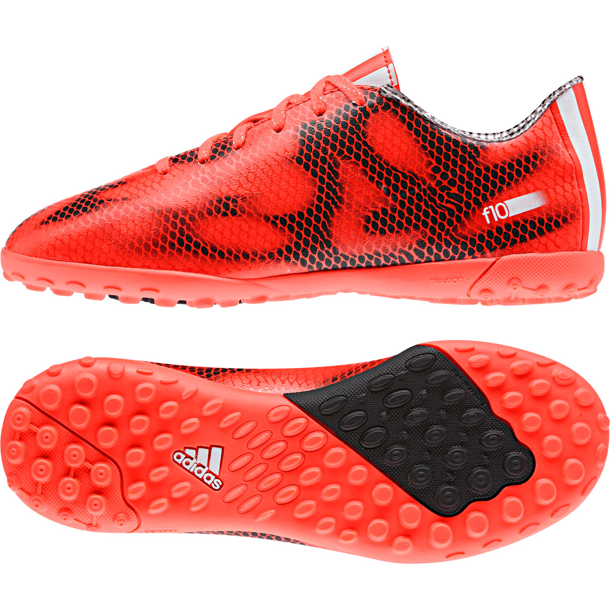 Adidas F10 Astroturf Trainers  Kids Red