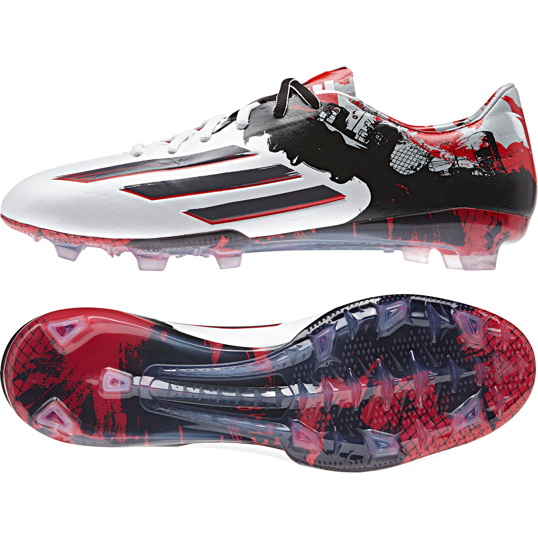 Adidas Messi 10.1 Firm Ground Football Boots White