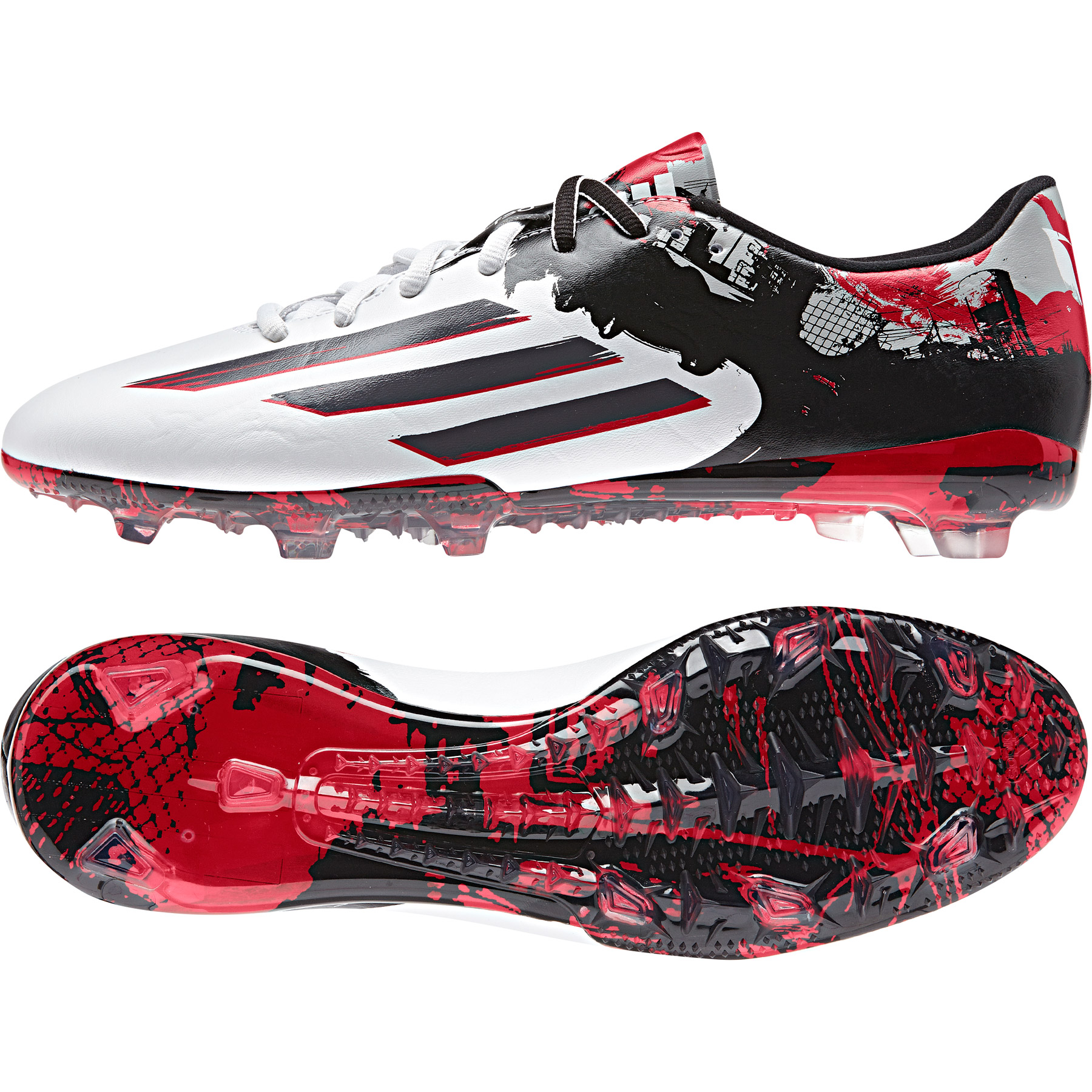 Adidas Messi 10.2 Firm Ground Football Boots White