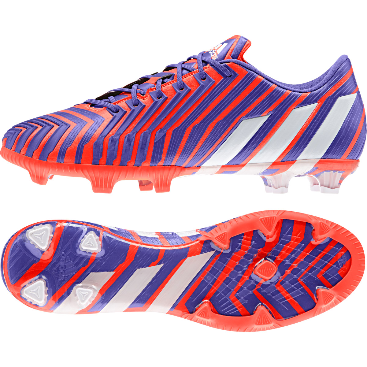 Adidas Predator Instinct Firm Ground Football Boots Red