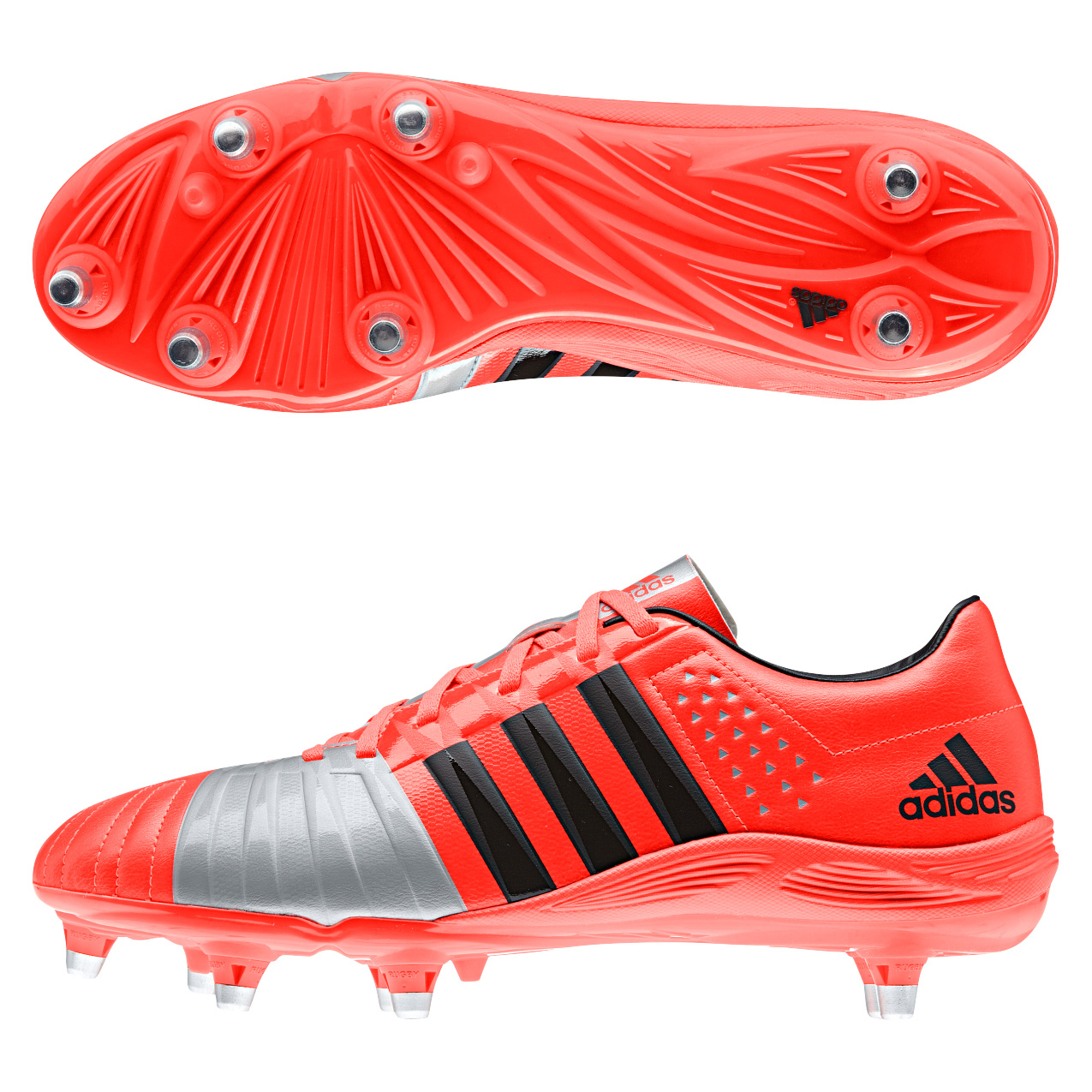 Adidas FF80 2.0 TRX II Soft Ground Rugby Boots Orange