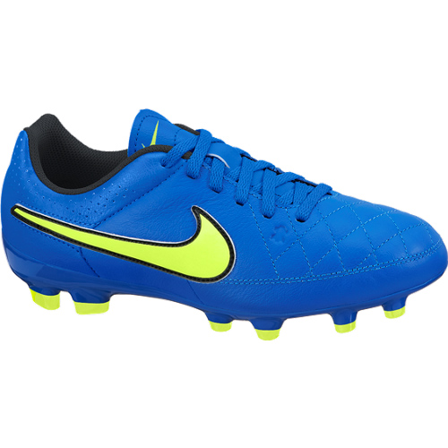 Nike Tiempo Genio Firm Ground Football Boots - Kids Blue