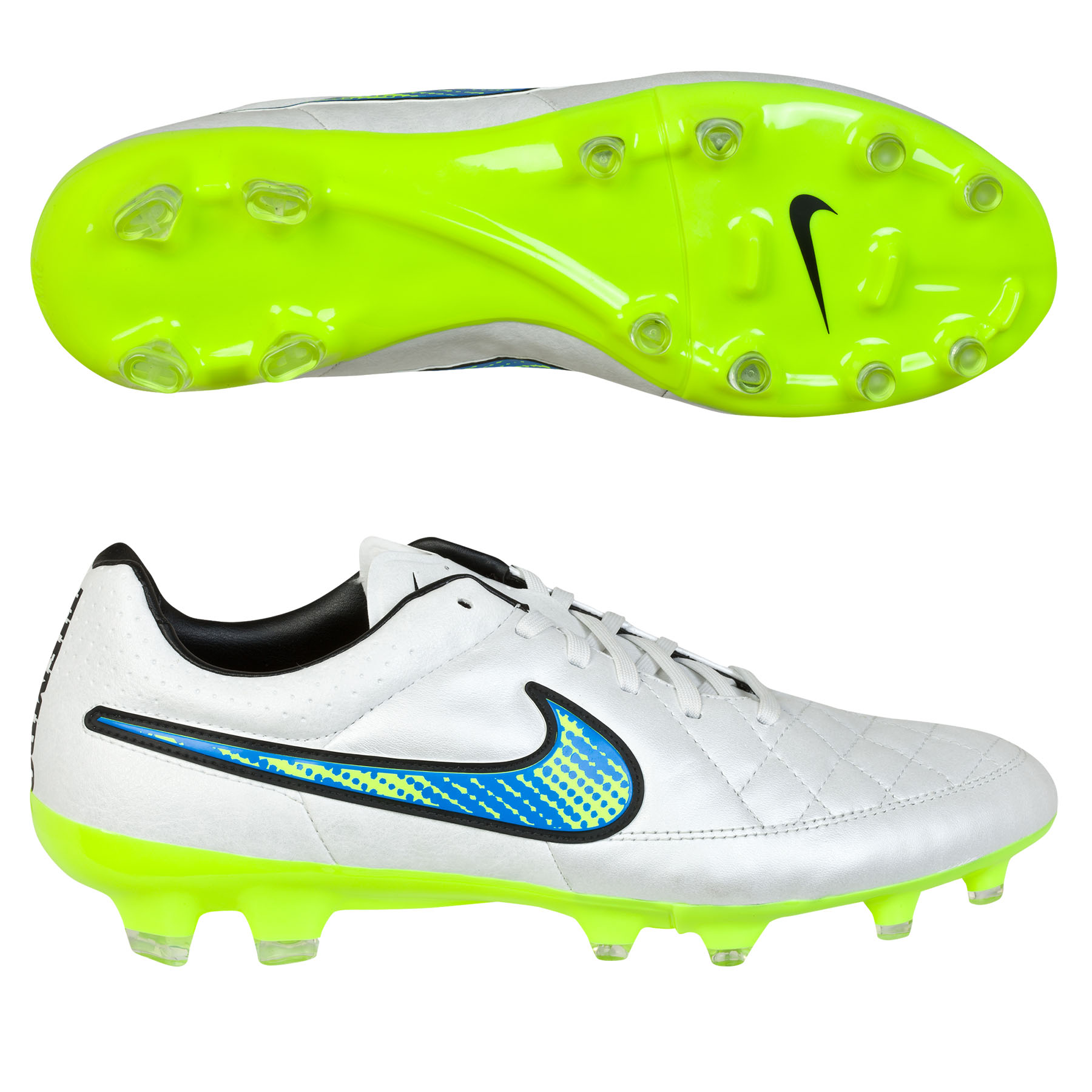 Nike Tiempo Legacy Firm Ground Football Boots White
