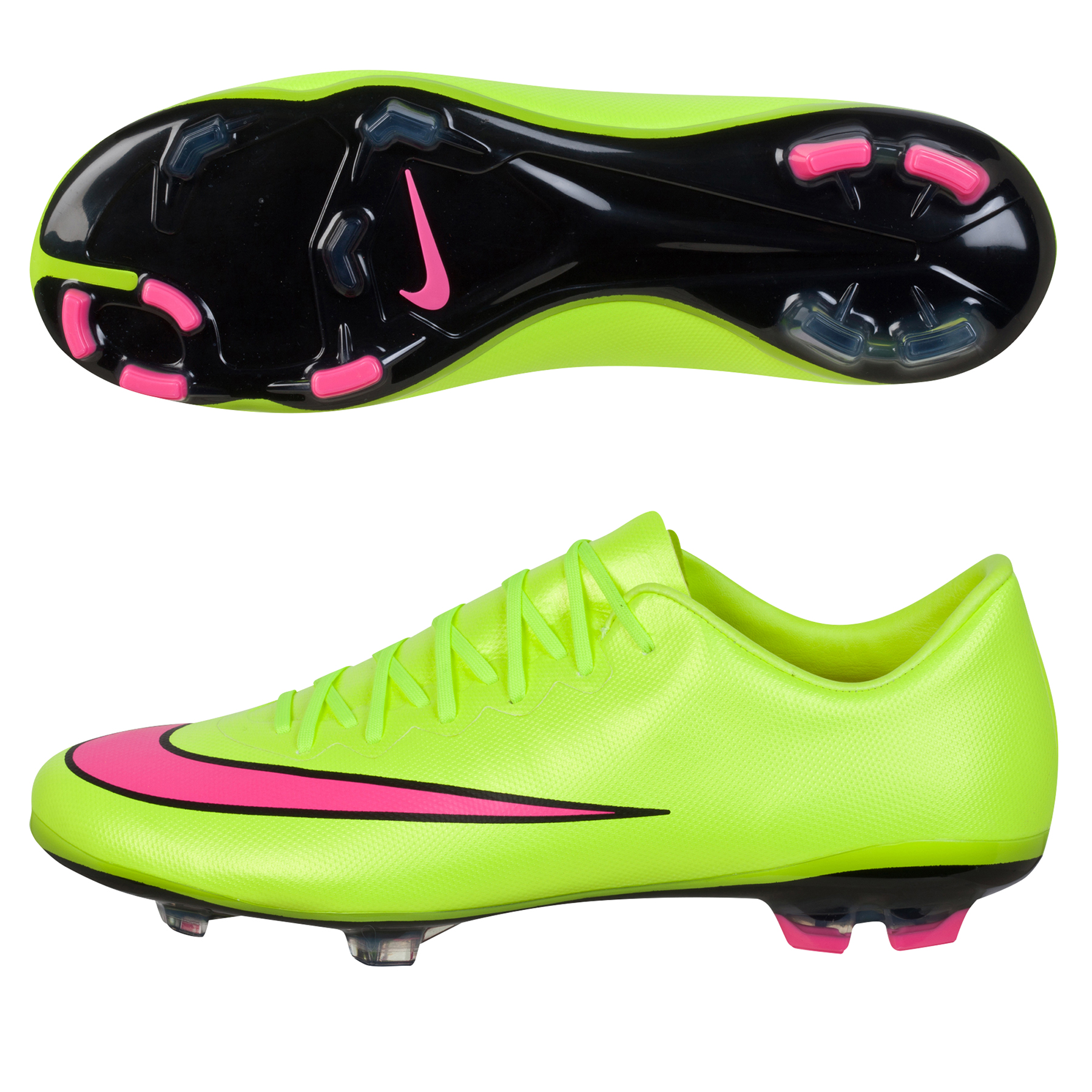 Nike Mercurial Vapor X Firm Ground Football Boots  Kids Yellow